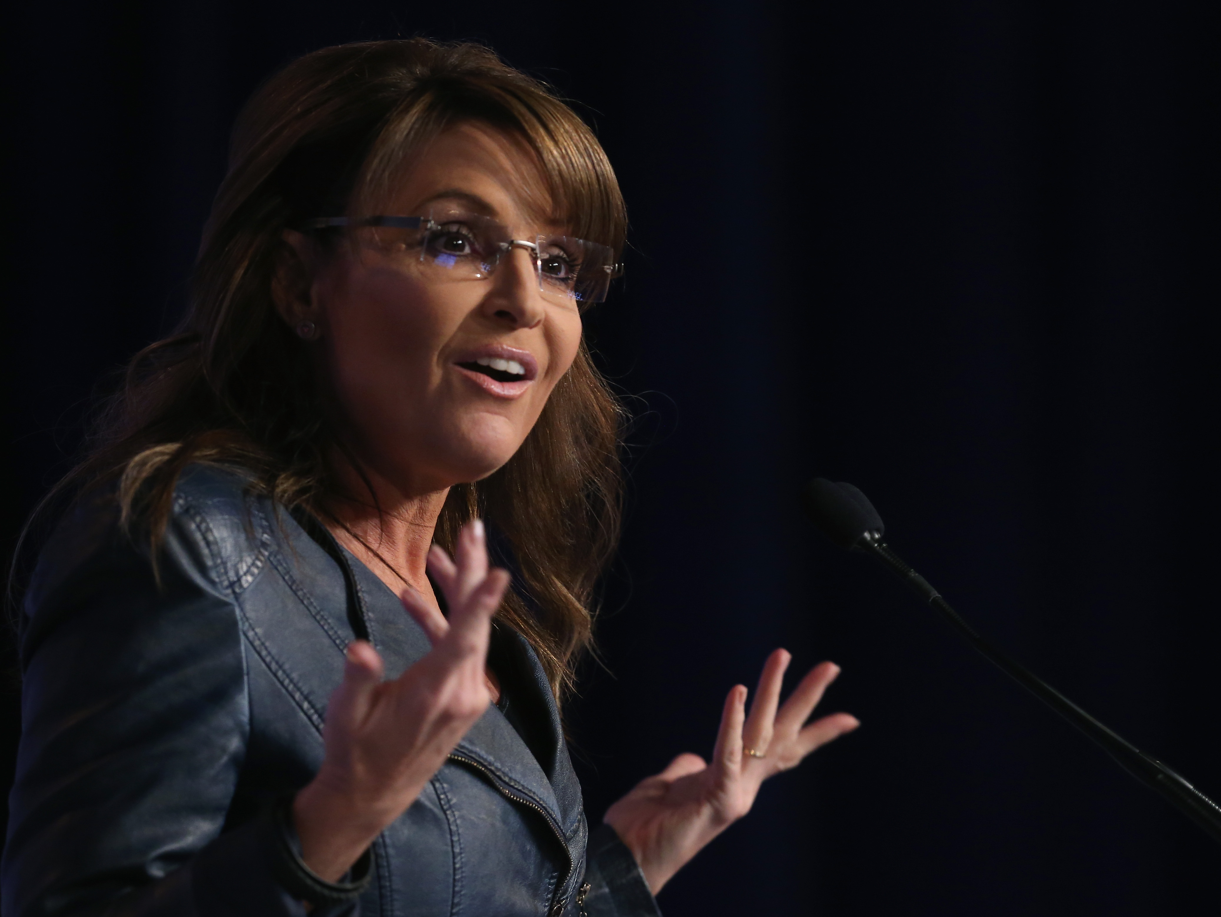 Sarah Palin speaks at the 2014 Values Voter Summit Sept. 26, 2014 in Washington, DC.