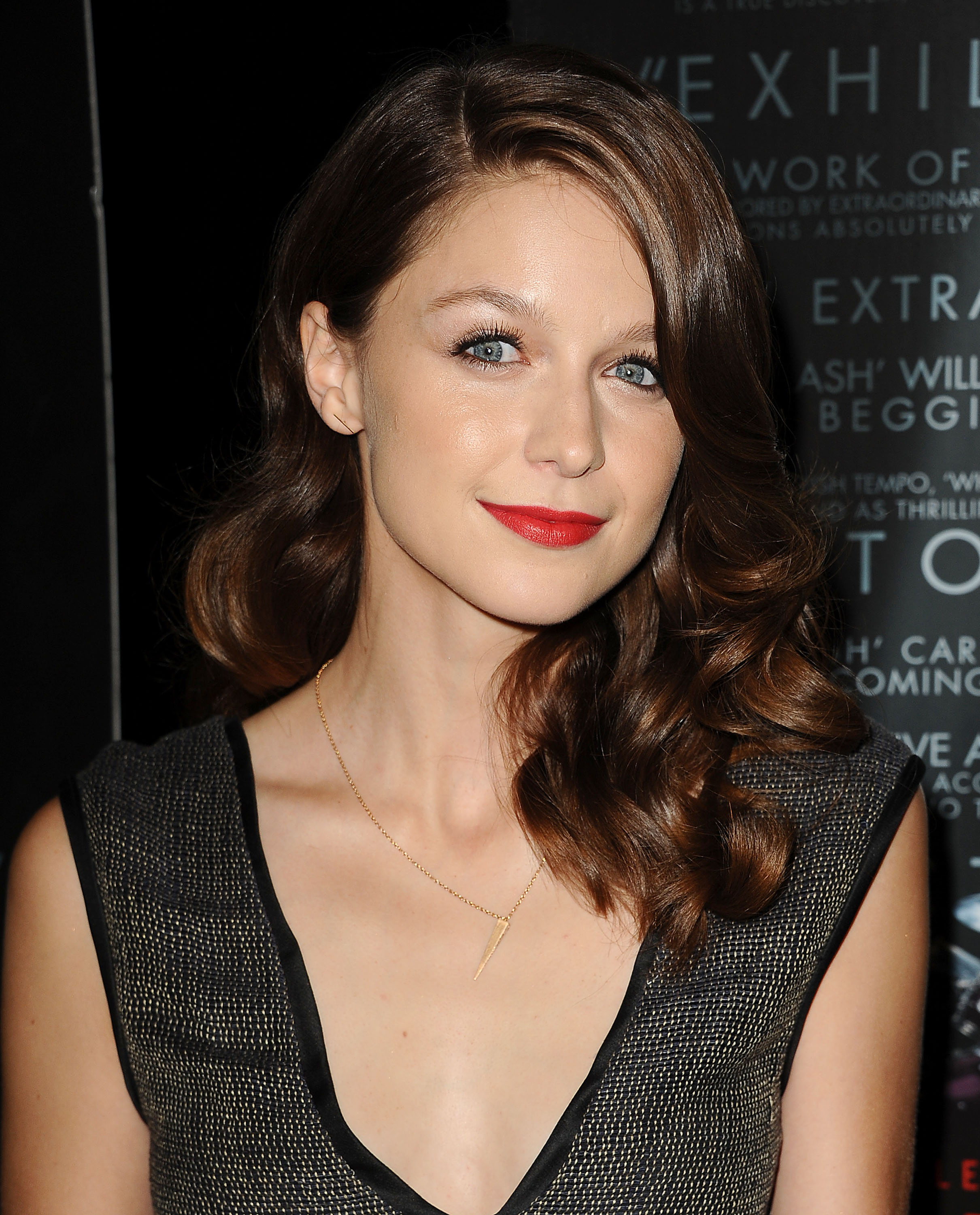 Actress Melissa Benoist attends the premiere of  Whiplash  at Bing Theatre At LACMA on Oct. 6, 2014 in Los Angeles.