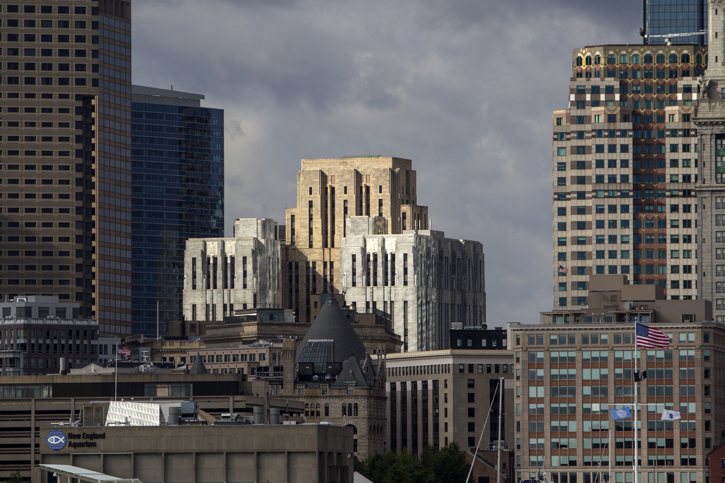 Buildings stand in the city skyline in Boston, Massachusetts, U.S., on Tuesday, Oct. 7, 2014.