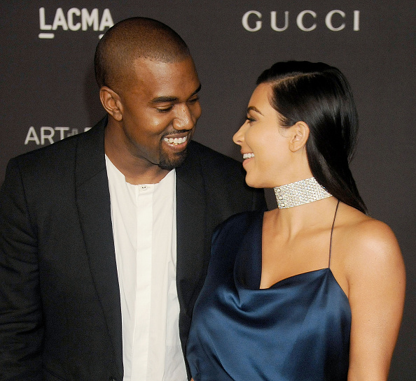 Kim Kardashian and Kanye West attend an event at LACMA in Los Angeles on Nov. 1, 2014
