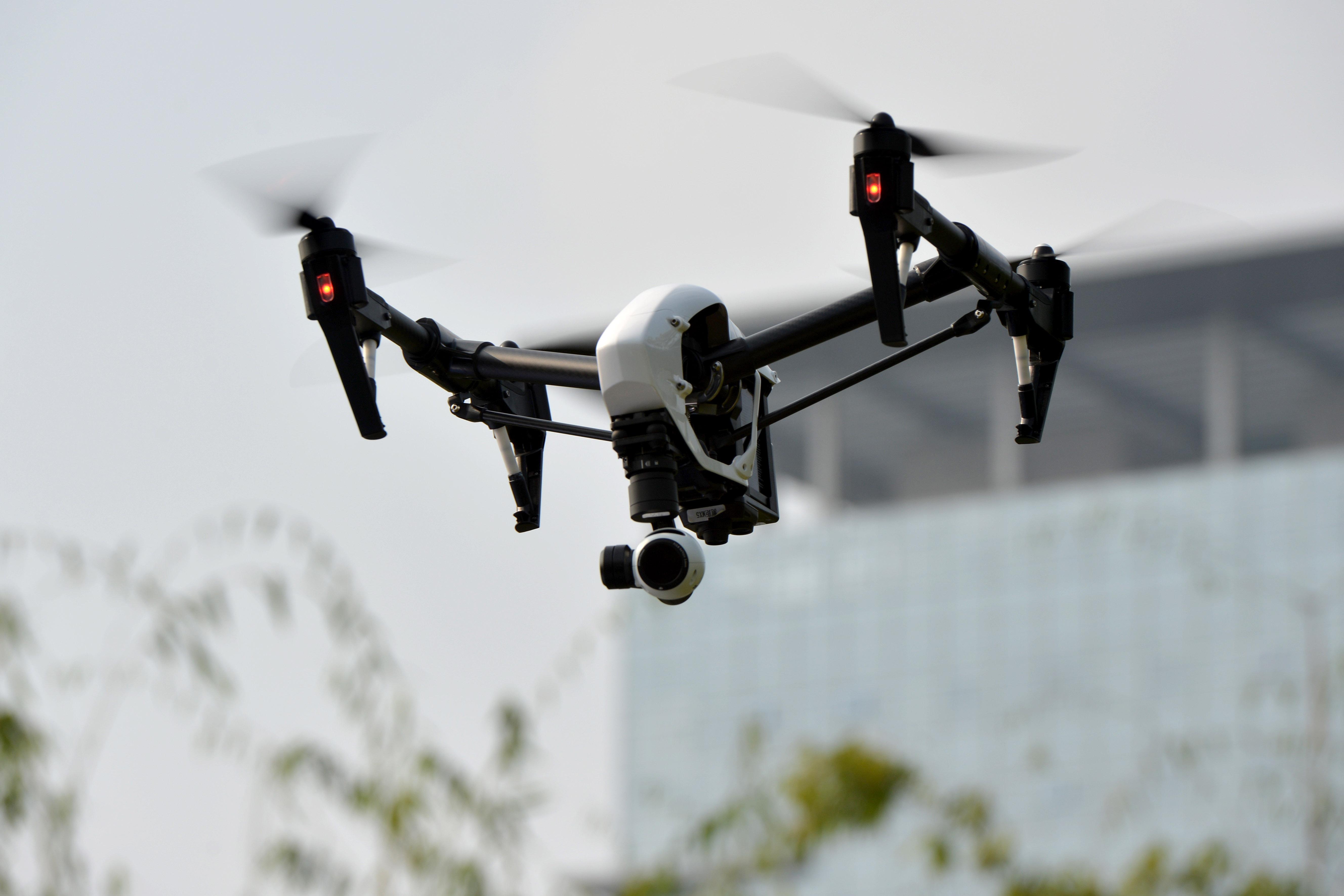 The 'Inspire 1' drone is presented outdoors on November 26, 2014 in Shenzhen, Guangdong province of China.