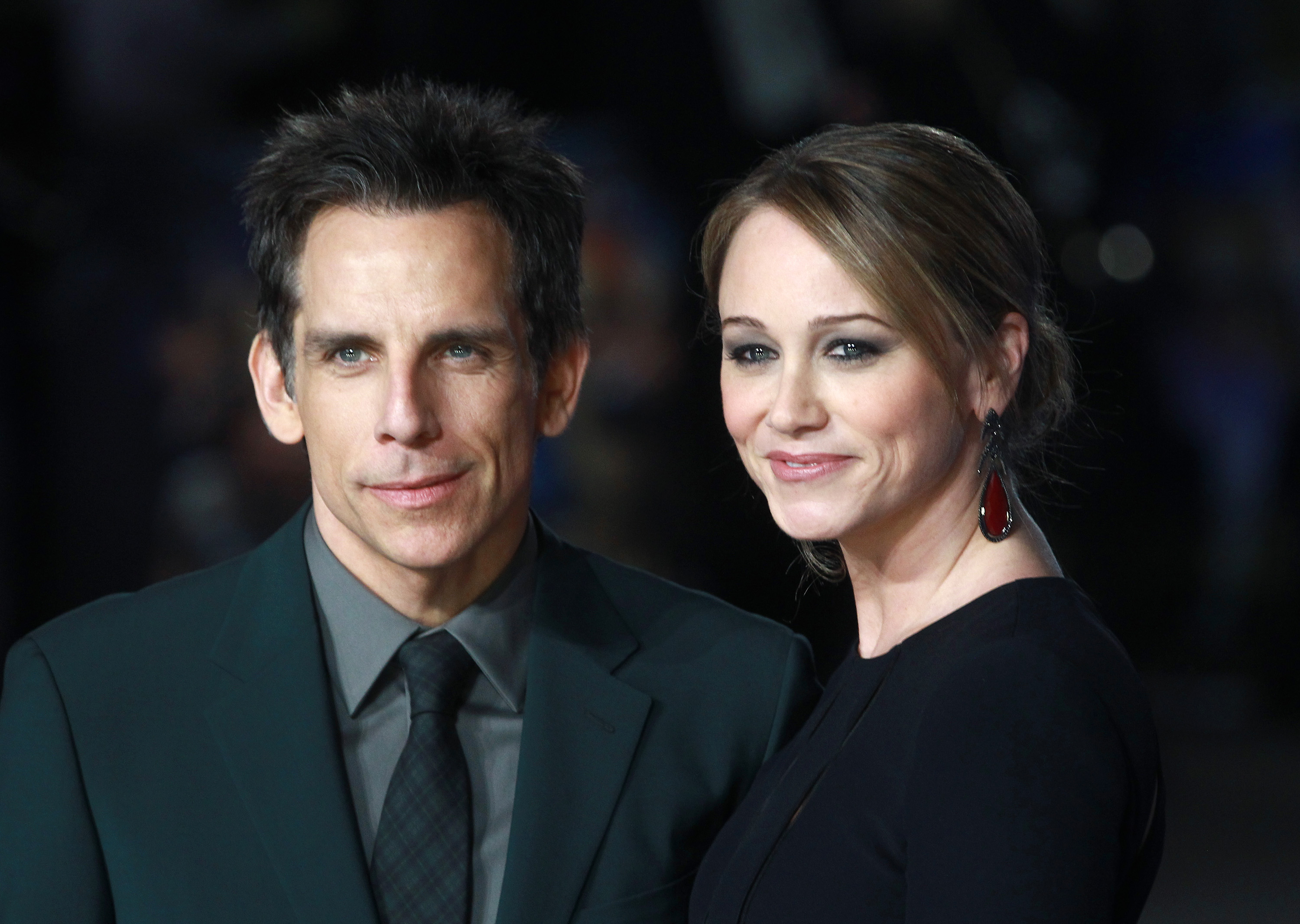 Ben Stiller and Christine Taylor attend the UK Premiere of  Night At The Museum: Secret Of The Tomb  at Empire Leicester Square on December 15, 2014 in London, England.