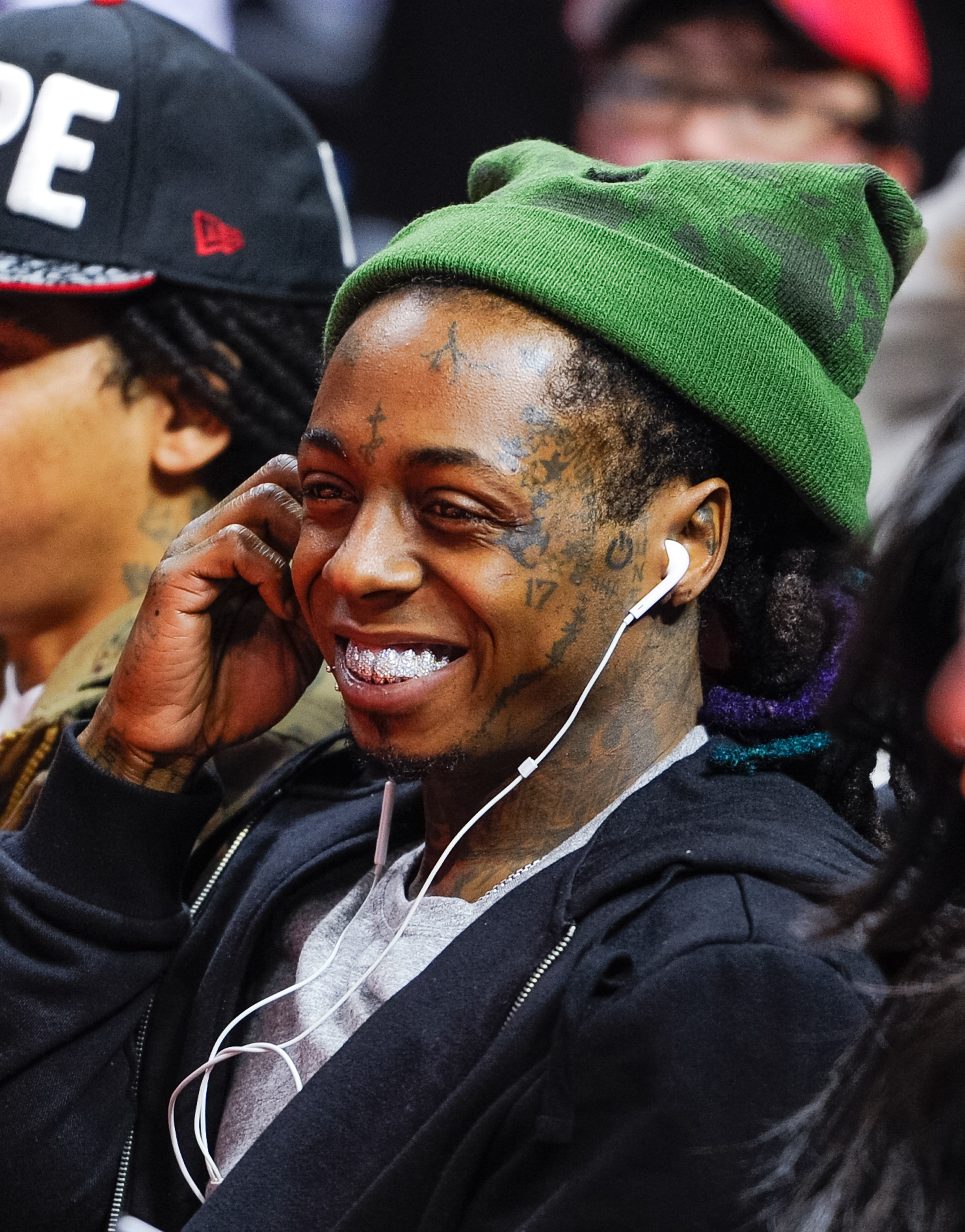 Lil Wayne attends a basketball game between the Indiana Pacers and the Los Angeles Clippers at Staples Center on Dec. 17, 2014 in Los Angeles, Calif.