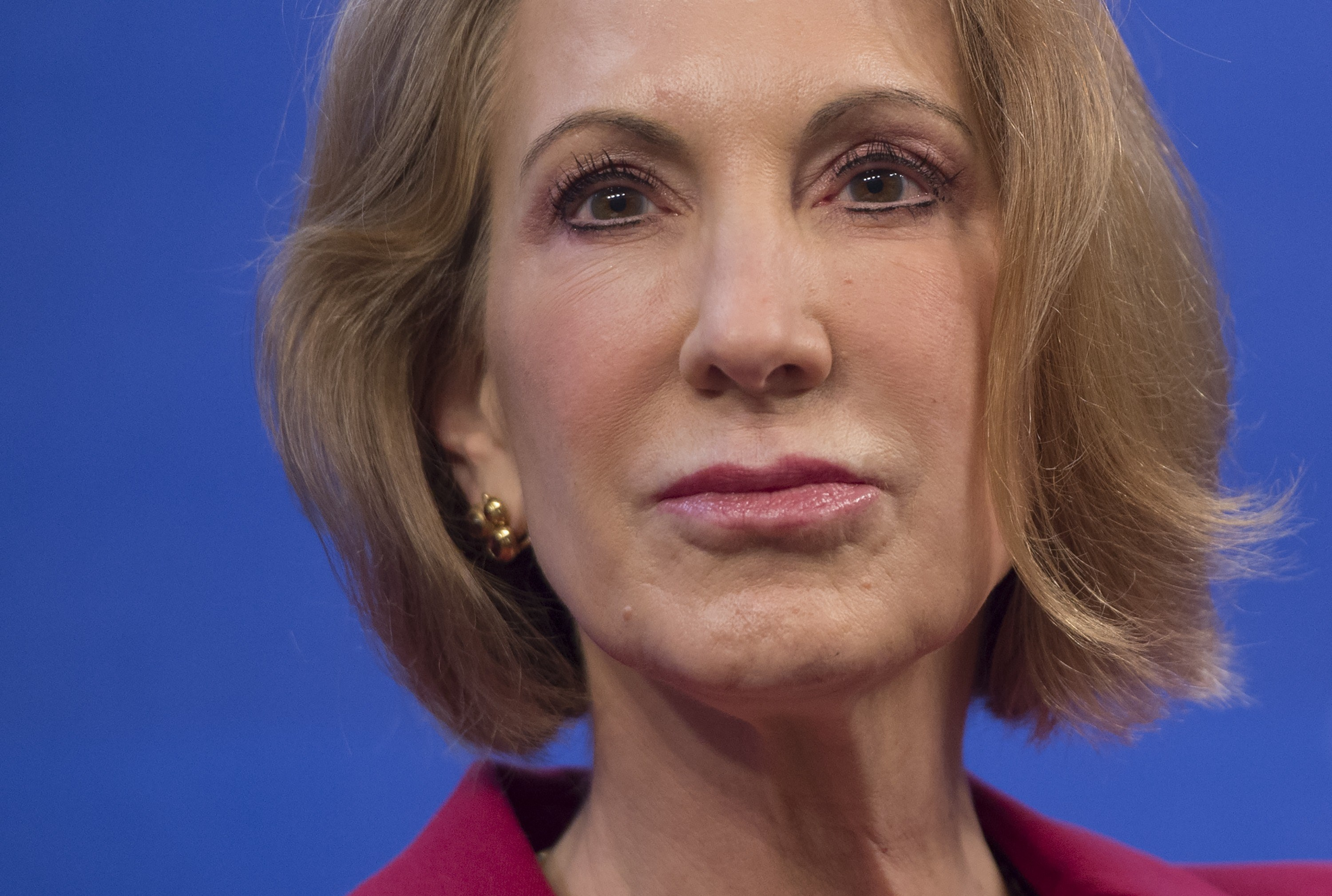 Carly Fiorina speaks about the economy at the Heritage Foundation on December 18, 2014.