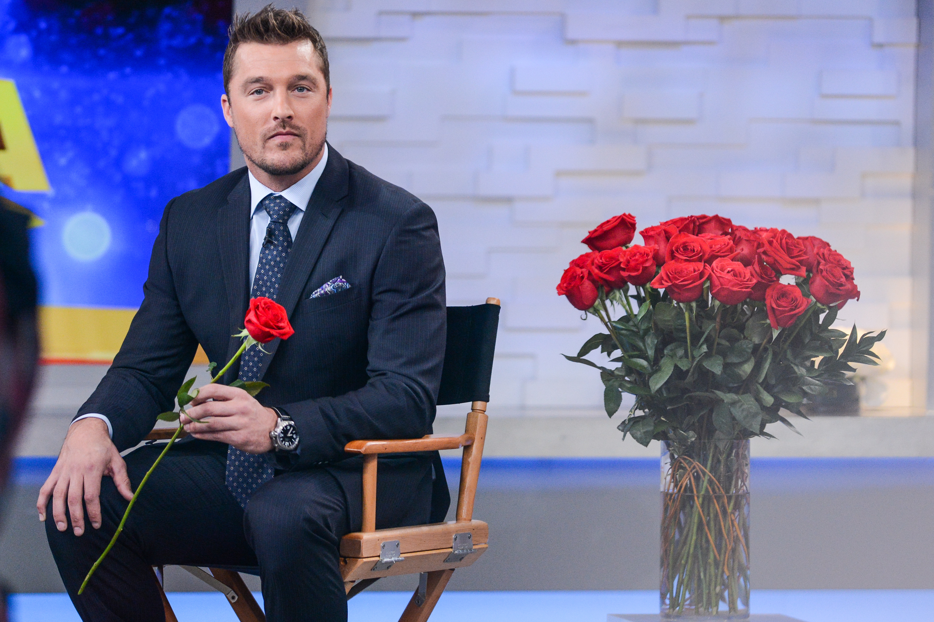 Television personality Chris Soules tapes an interview at Good Morning America at the ABC Times Square Studios in New York City on Jan. 5, 2015