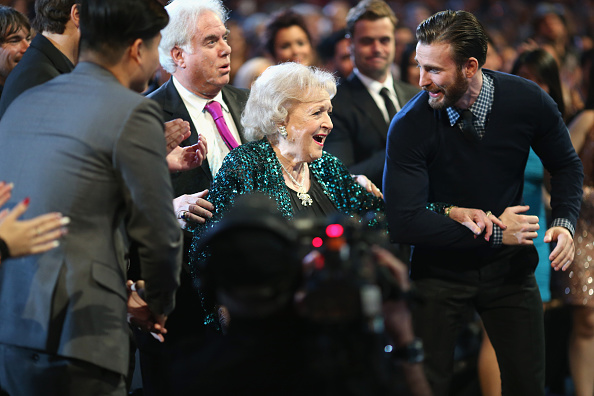 Actress Betty White accepts the award for Favorite TV Icon during The 41st Annual People's Choice Awards at Nokia Theatre LA Live on January 7, 2015, in Los Angeles, California.