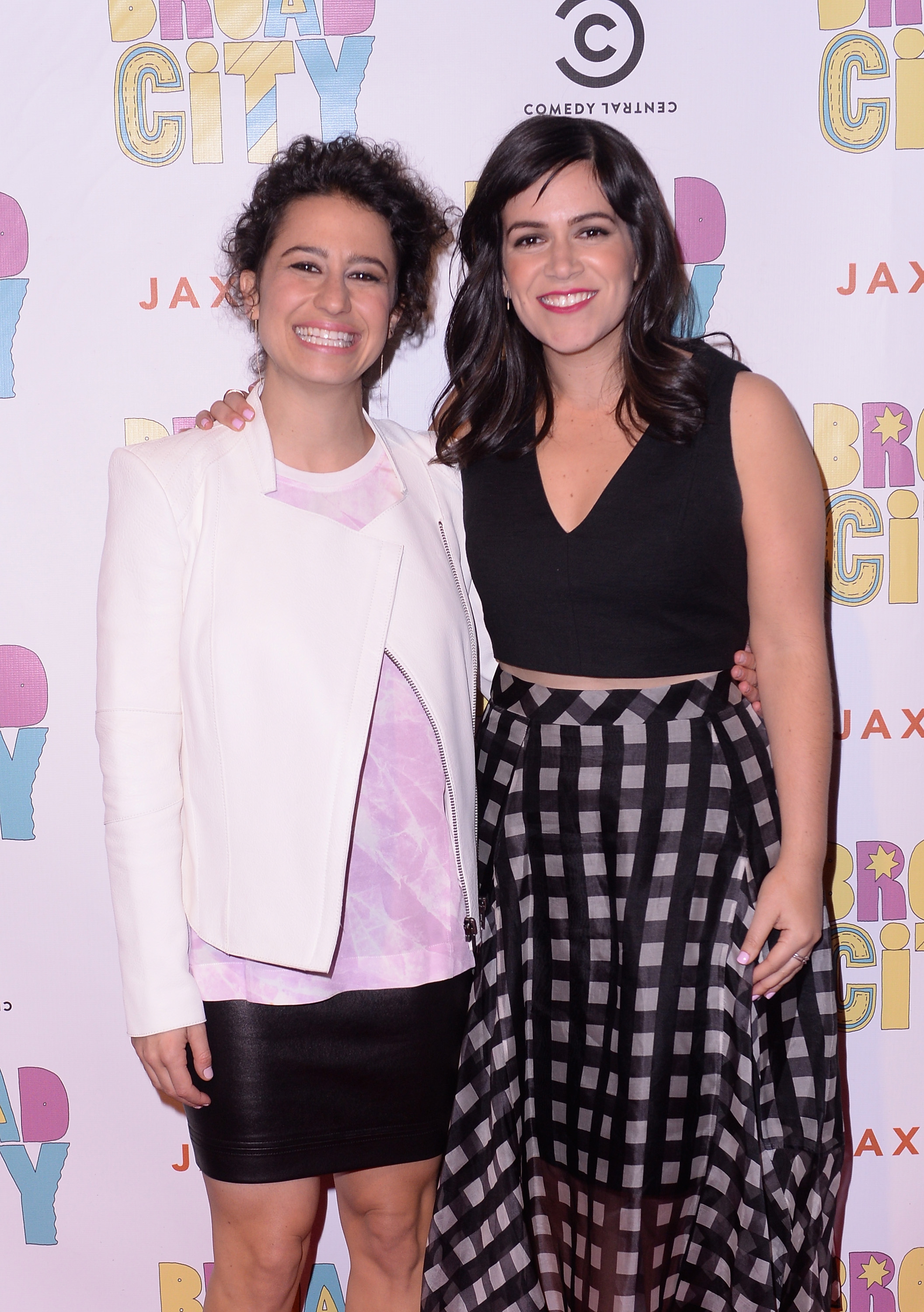Actresses/writers Ilana Glazer and Abbi Jacobson attend The Broad City Season 2 Premiere Party on January 7, 2015 in New York City.  (Stephen Lovekin--Getty Images for Comedy Central)