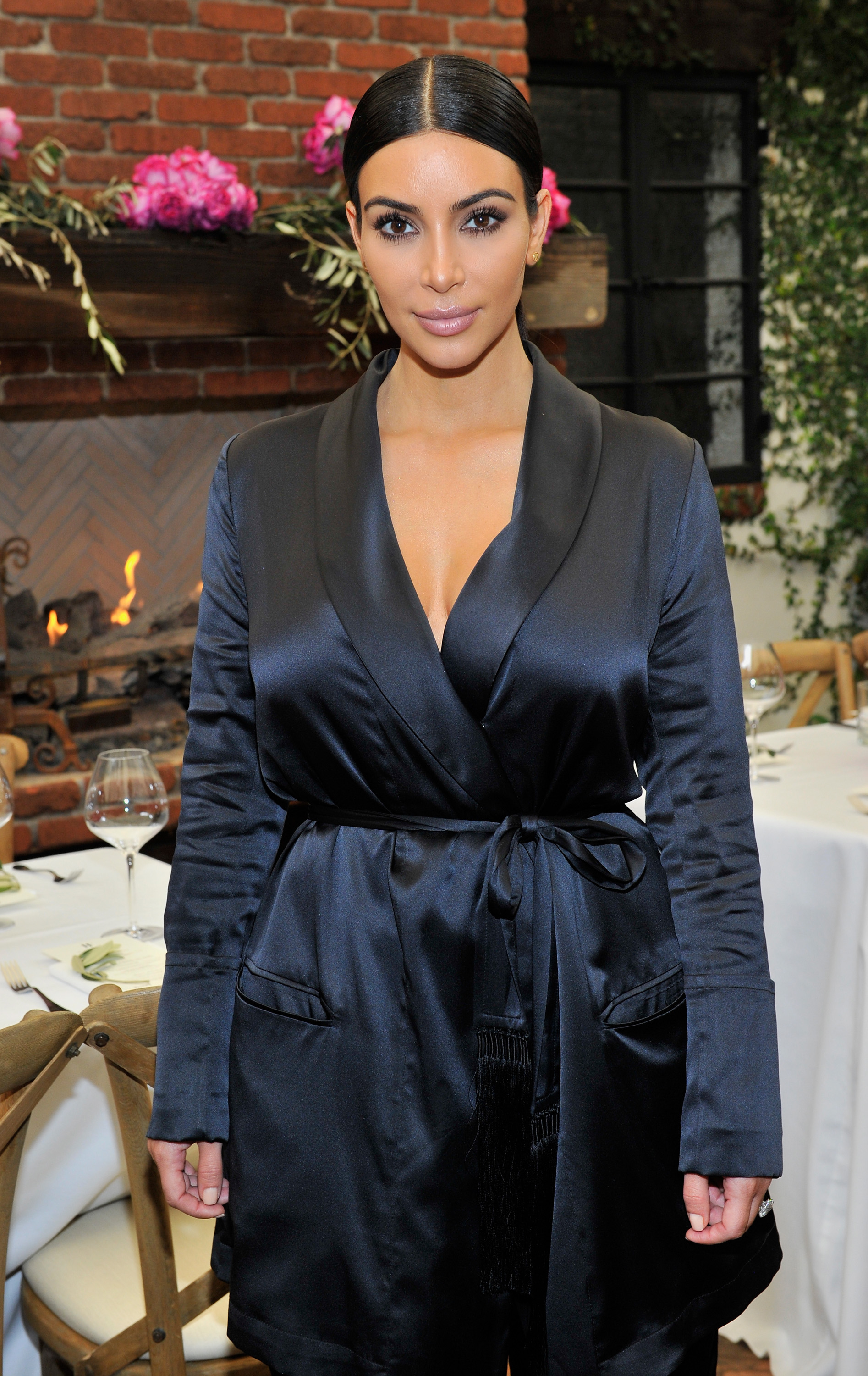 TV personality Kim Kardashian attends Lynn Hirschberg Celebrates W's It Girls with Piaget and Dom Perignon at A.O.C on January 10, 2015 in Los Angeles, California.