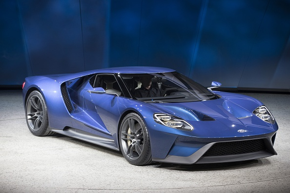 The new Ford GT is introduced at the 2015 North American International Auto Show in Detroit on Jan. 12, 2015