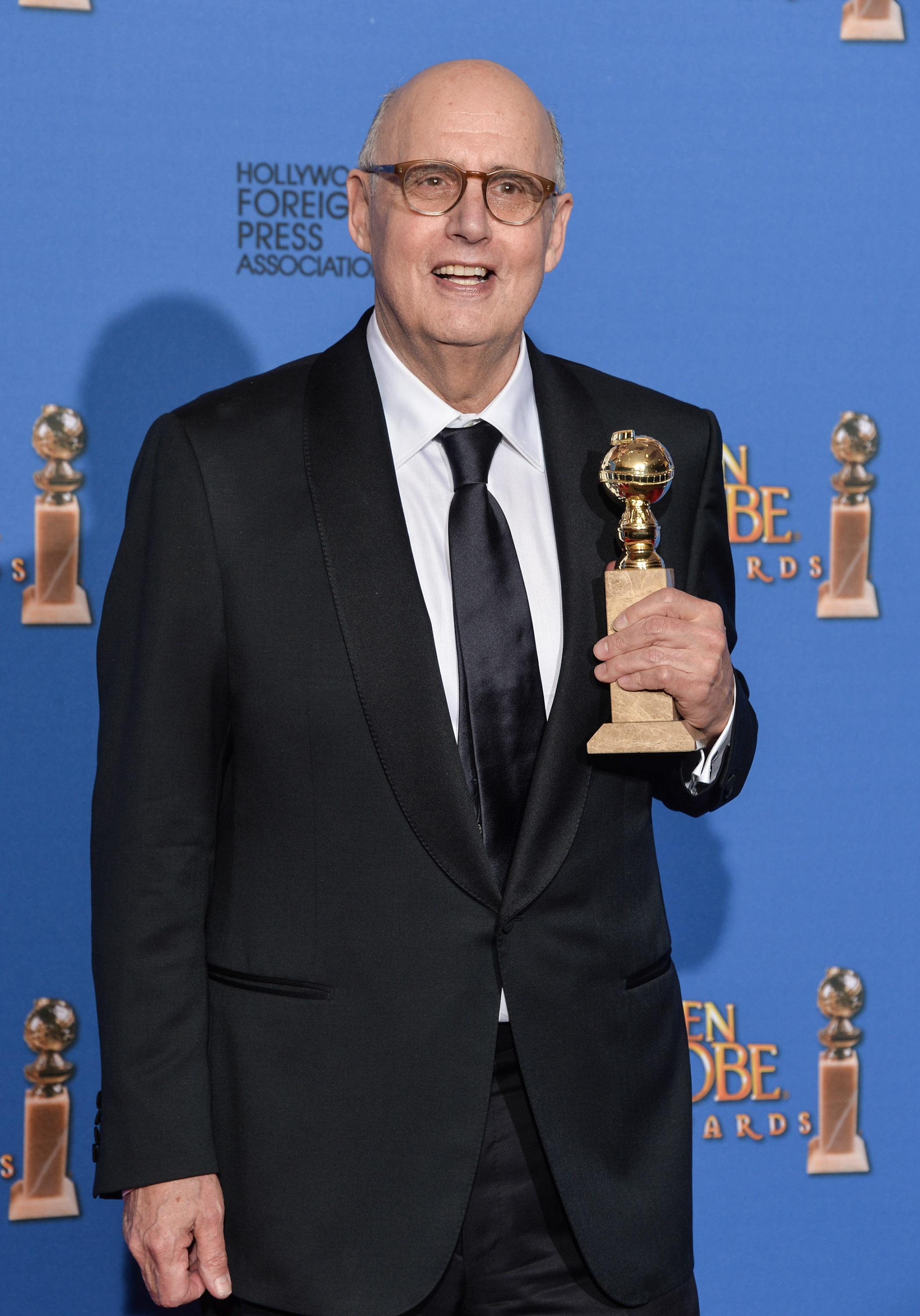 Actor Jeffrey Tambor poses in the press room during the 72nd Annual Golden Globe Awards at The Beverly Hilton Hotel on January 11, 2015 in Beverly Hills, California.