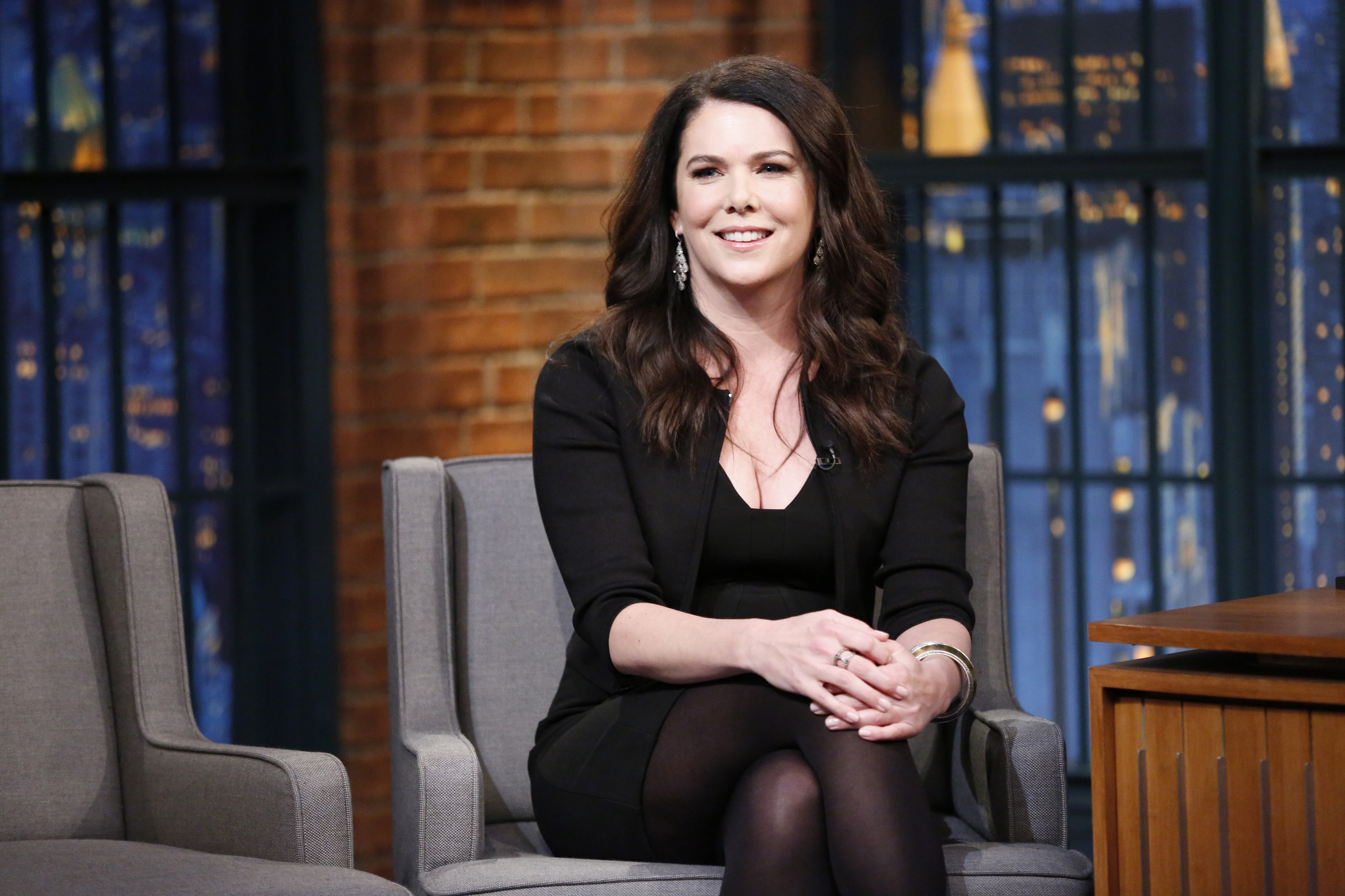 Actress Lauren Graham during an interview on January 20, 2015