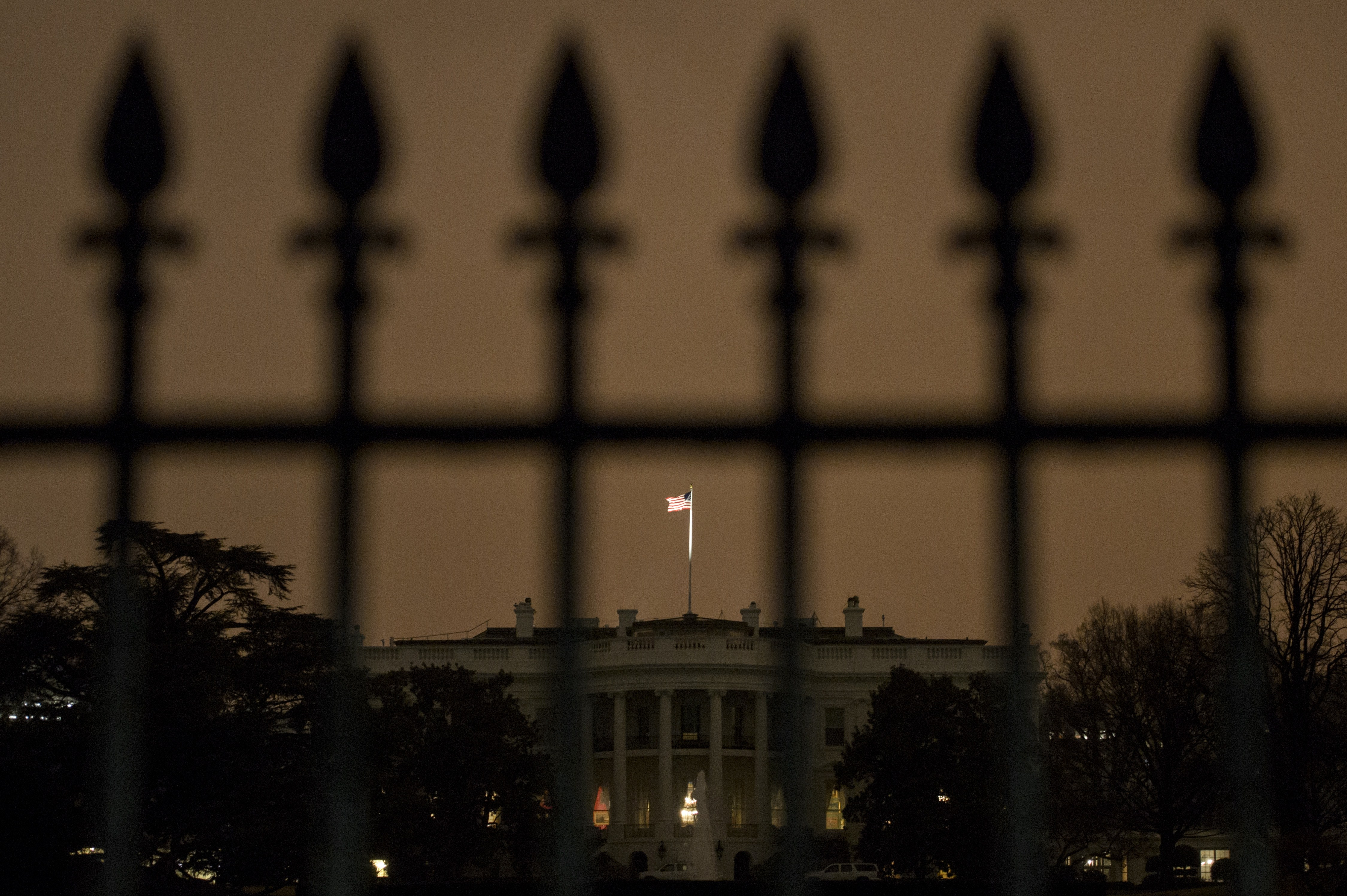 The south side of the White House is seen January 26, 2015 in Washington, D.C.