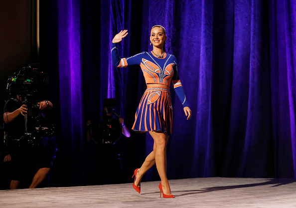 Katy Perry attends the Pepsi Super Bowl XLIX Halftime Show Press Conference in Phoenix on Jan. 29, 2015