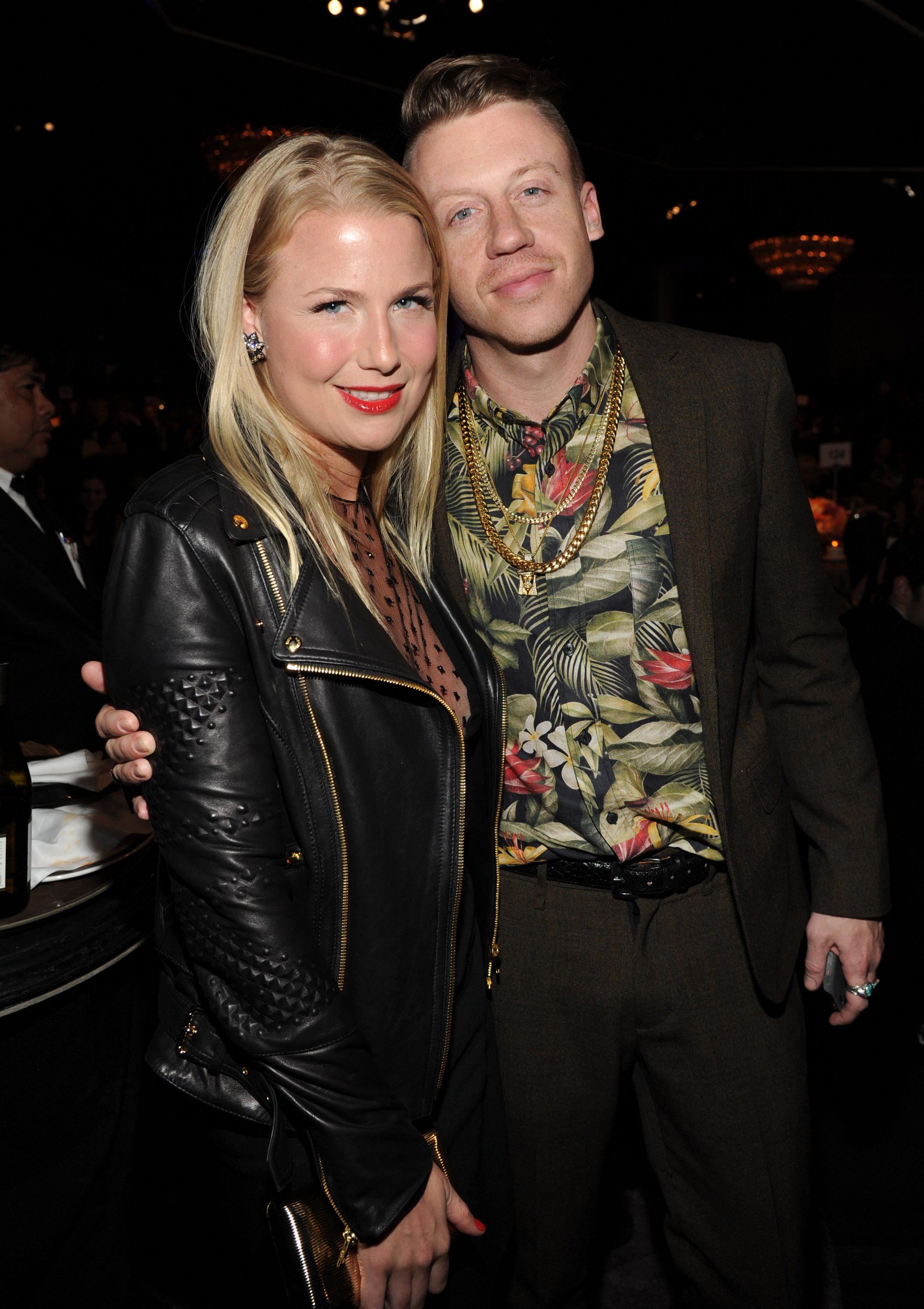 Tricia Davis and Macklemore in Los Angeles during the Pre-Grammy Gala and Salute, Jan. 25, 2014.