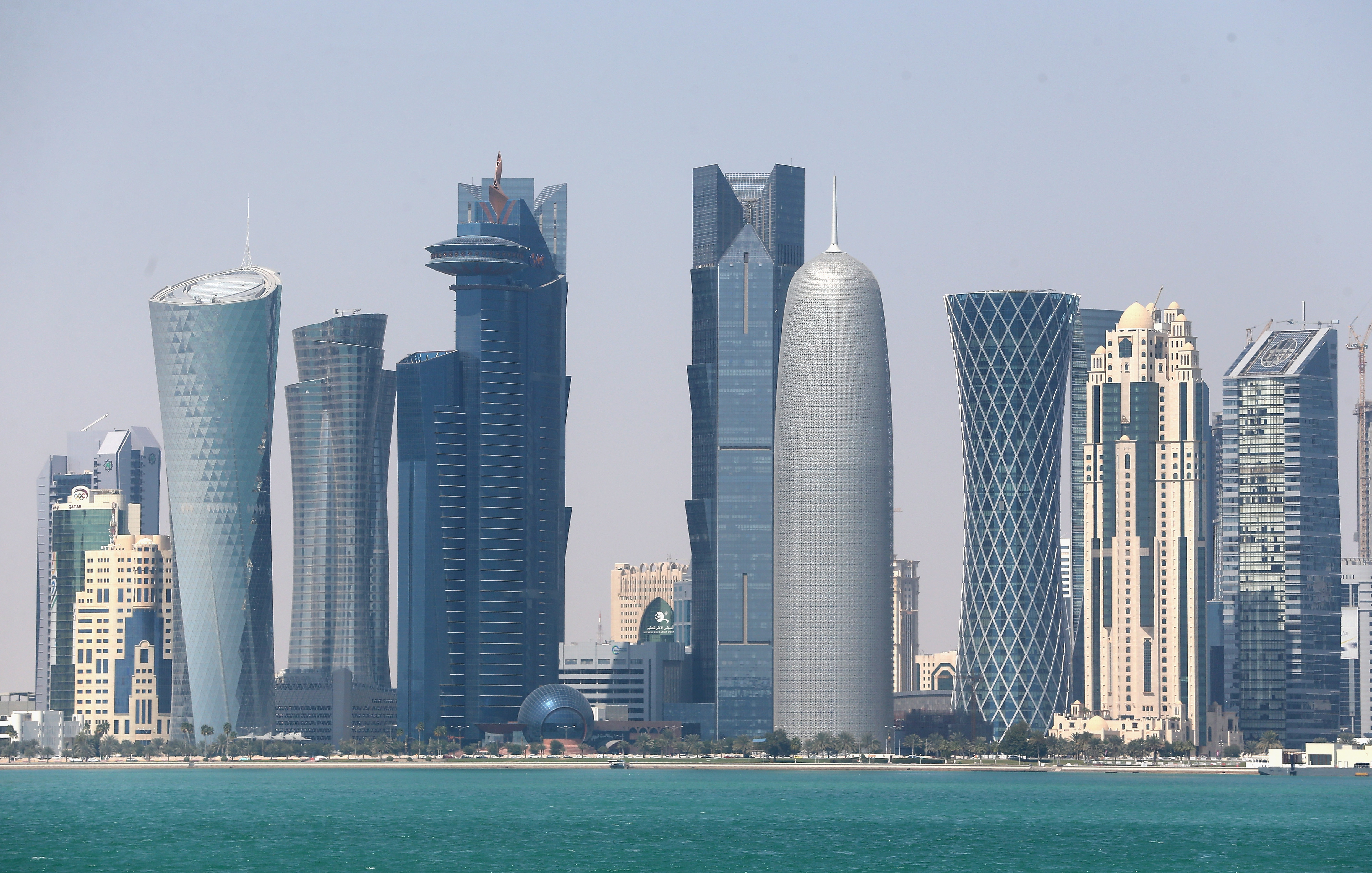 A general view of the skyline in Doha, Qatar, on Feb. 20, 2014