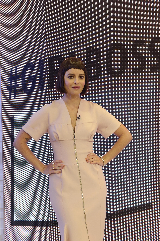 Sophia Amoruso - #GirlBoss - visits GOOD MORNING AMERICA, 5/6/14, airing on the ABC Television Network.   ( Ida Mae Astute--ABC via Getty Images)
