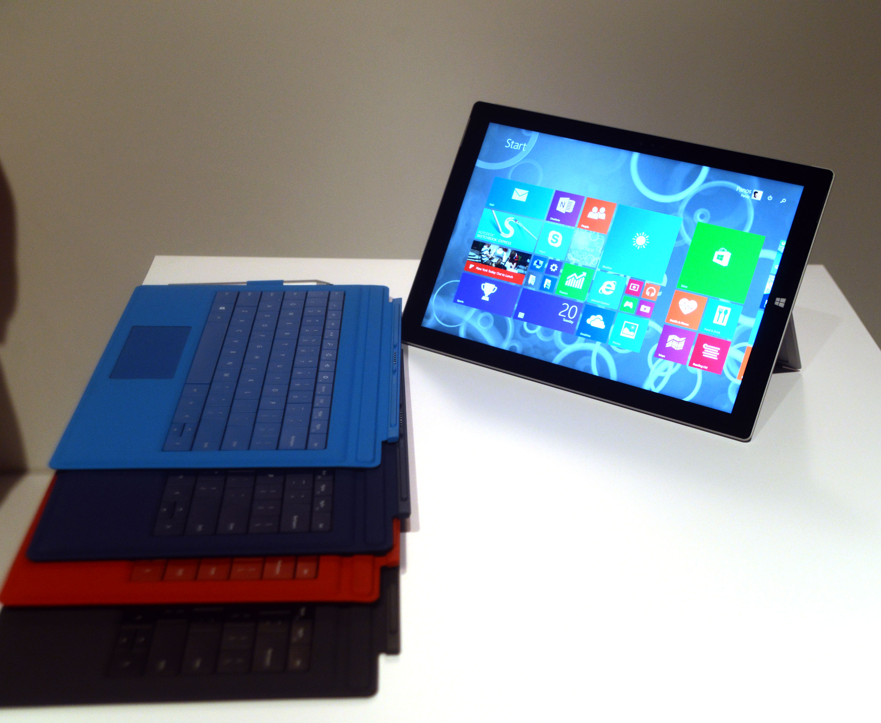 Microsoft Pro 3 Surface Tablet at Skylight Clarkson Sq on May 20, 2014 in New York City.