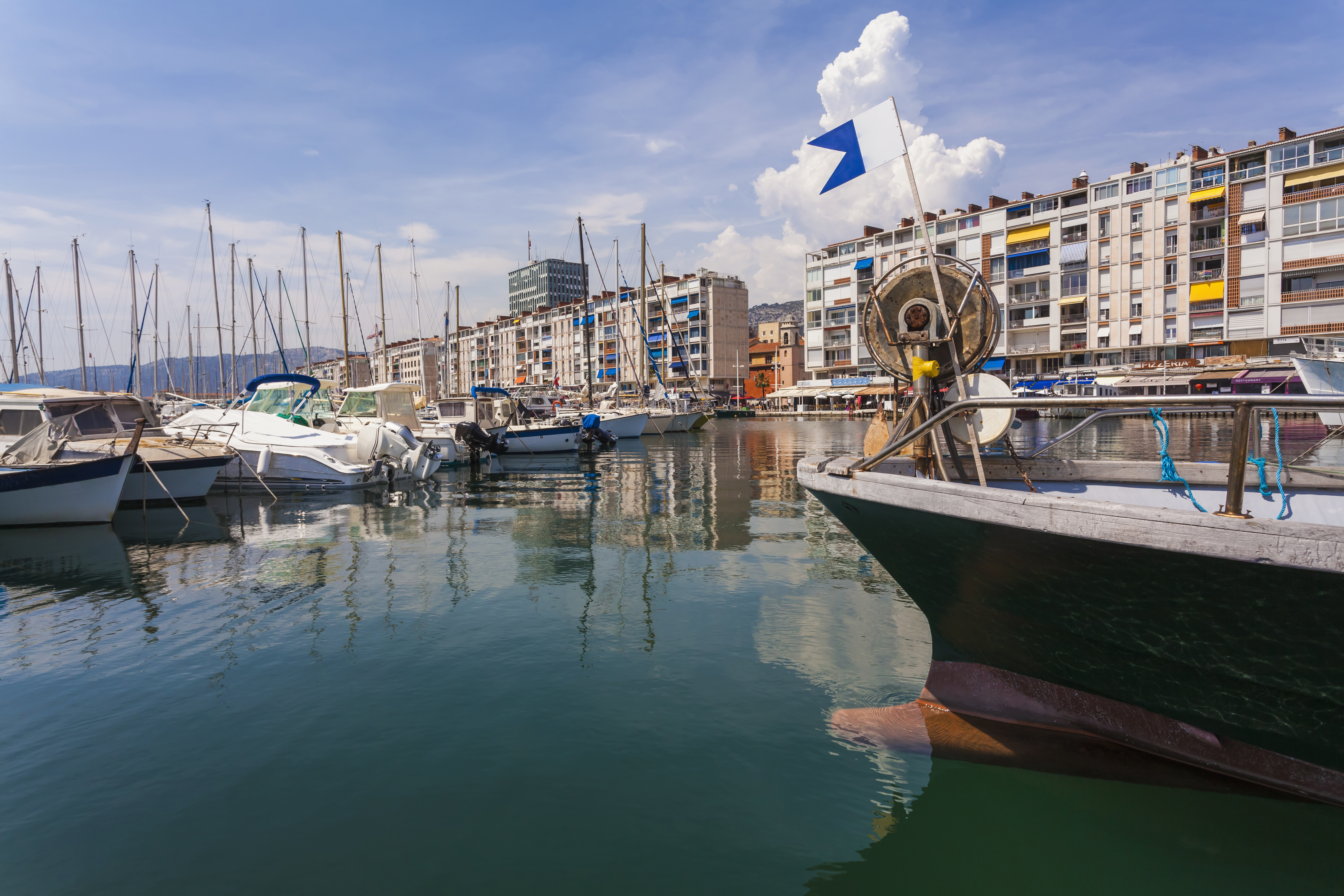 The harbor of Toulon