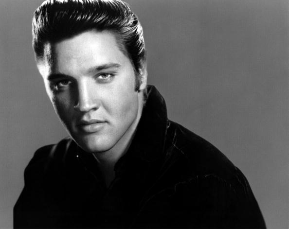 Posed studio portrait of Elvis Presley