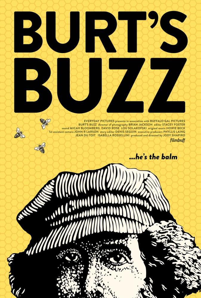 Burt's Buzz poster.