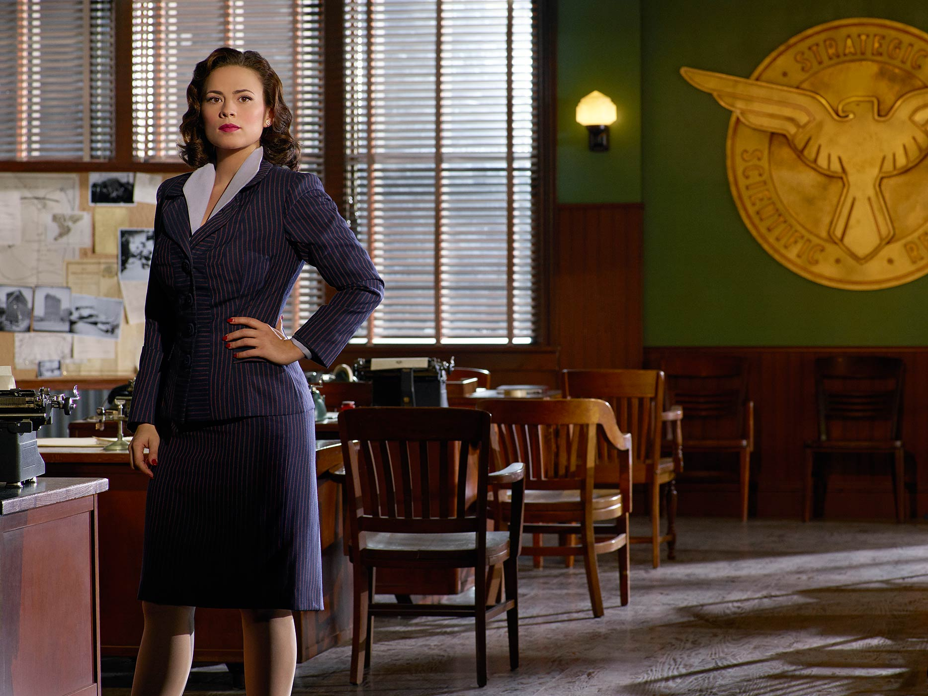 Hayley Atwell stars as Agent Peggy Carter in Agent Carter