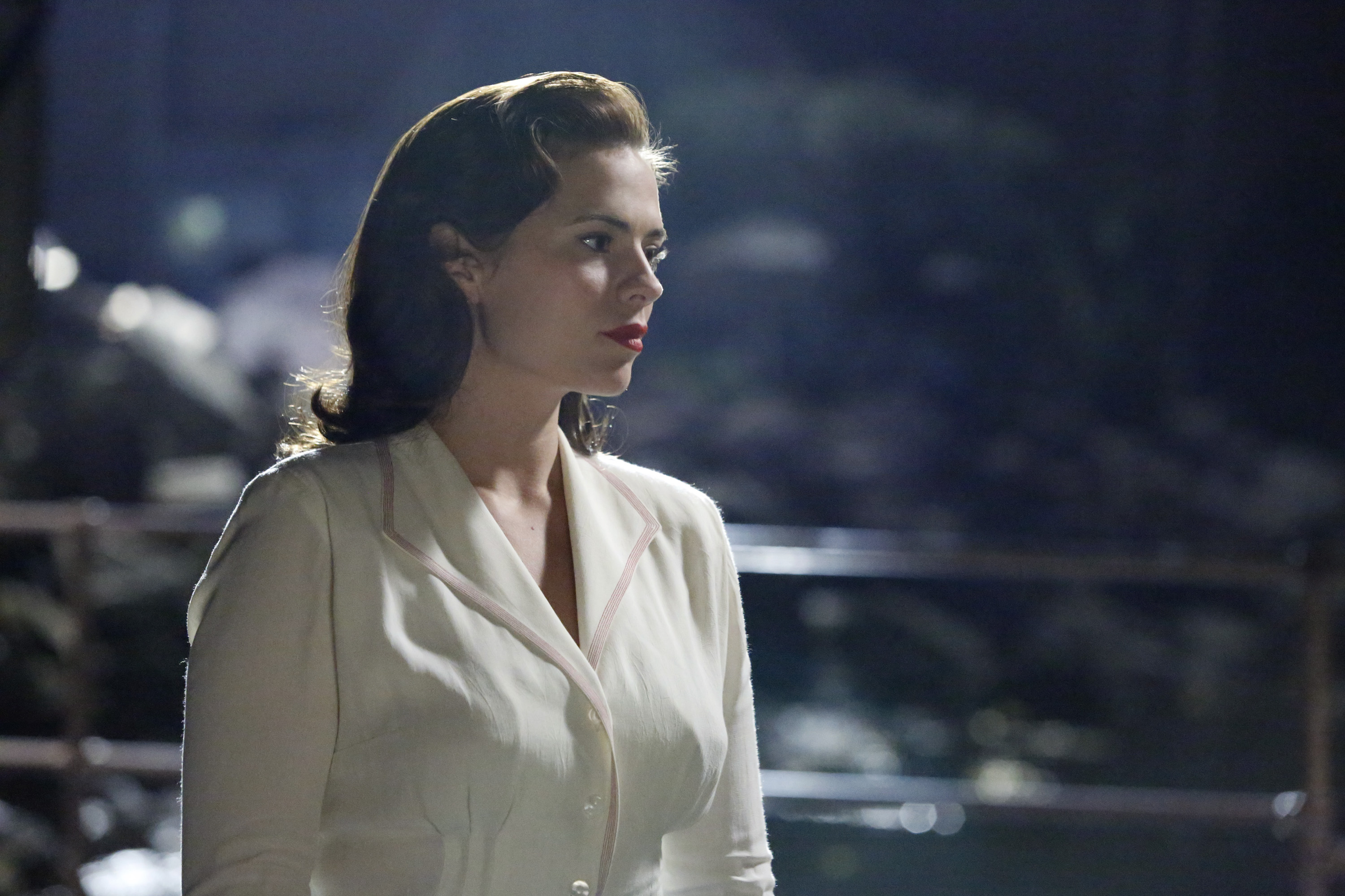Atwell as Peggy Carter in Agent Carter.