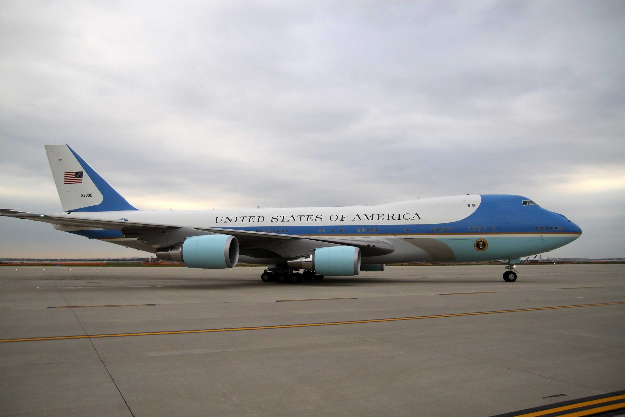SAM 29000, also a Boeing 747, remains President Obama's primary transport aircraft.