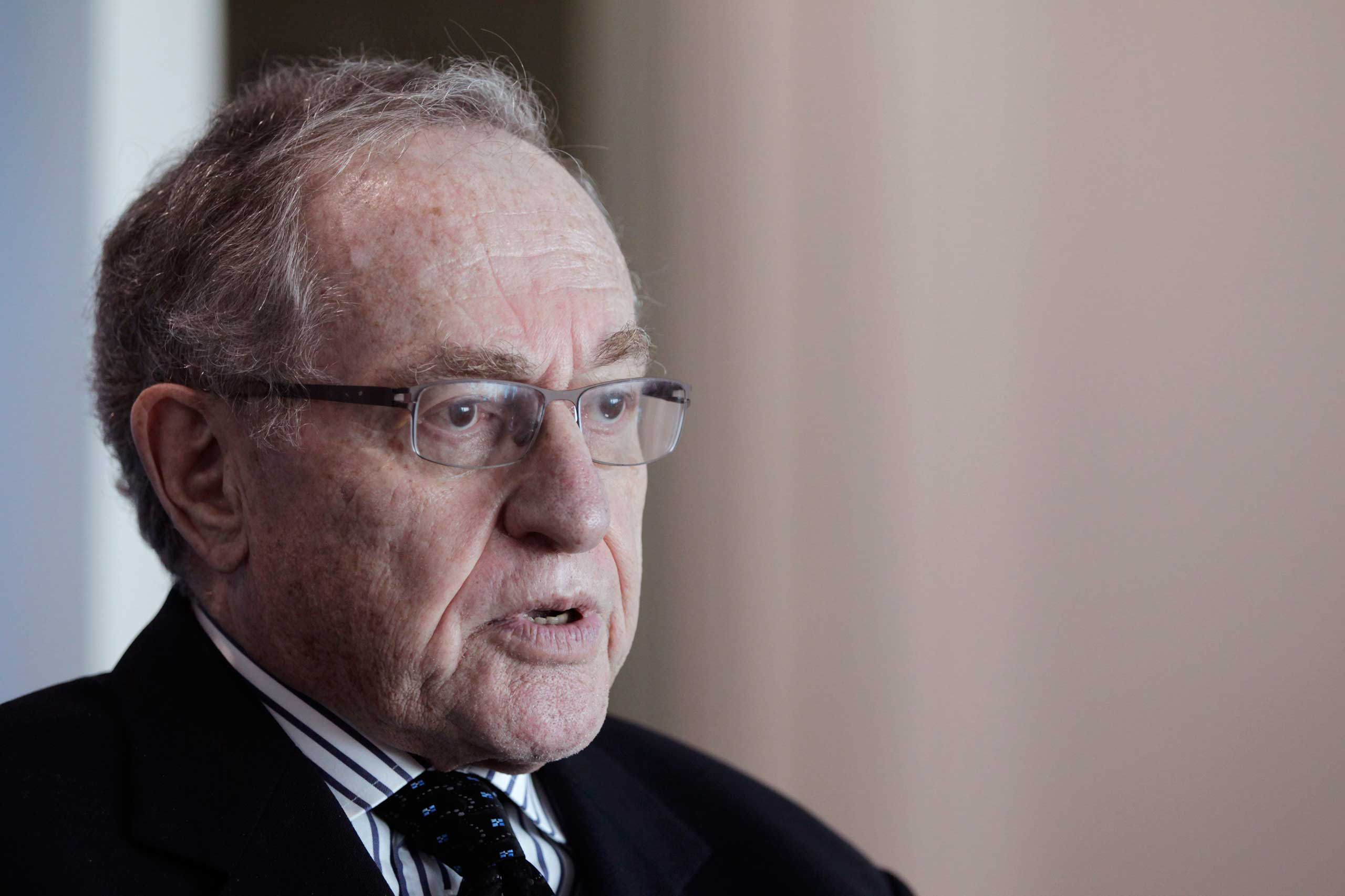 Attorney and law professor Alan Dershowitz discusses allegations of sex with an underage girl levelled against him, during an interview at his home in Miami Beach, Fla. on Jan. 5, 2015.
