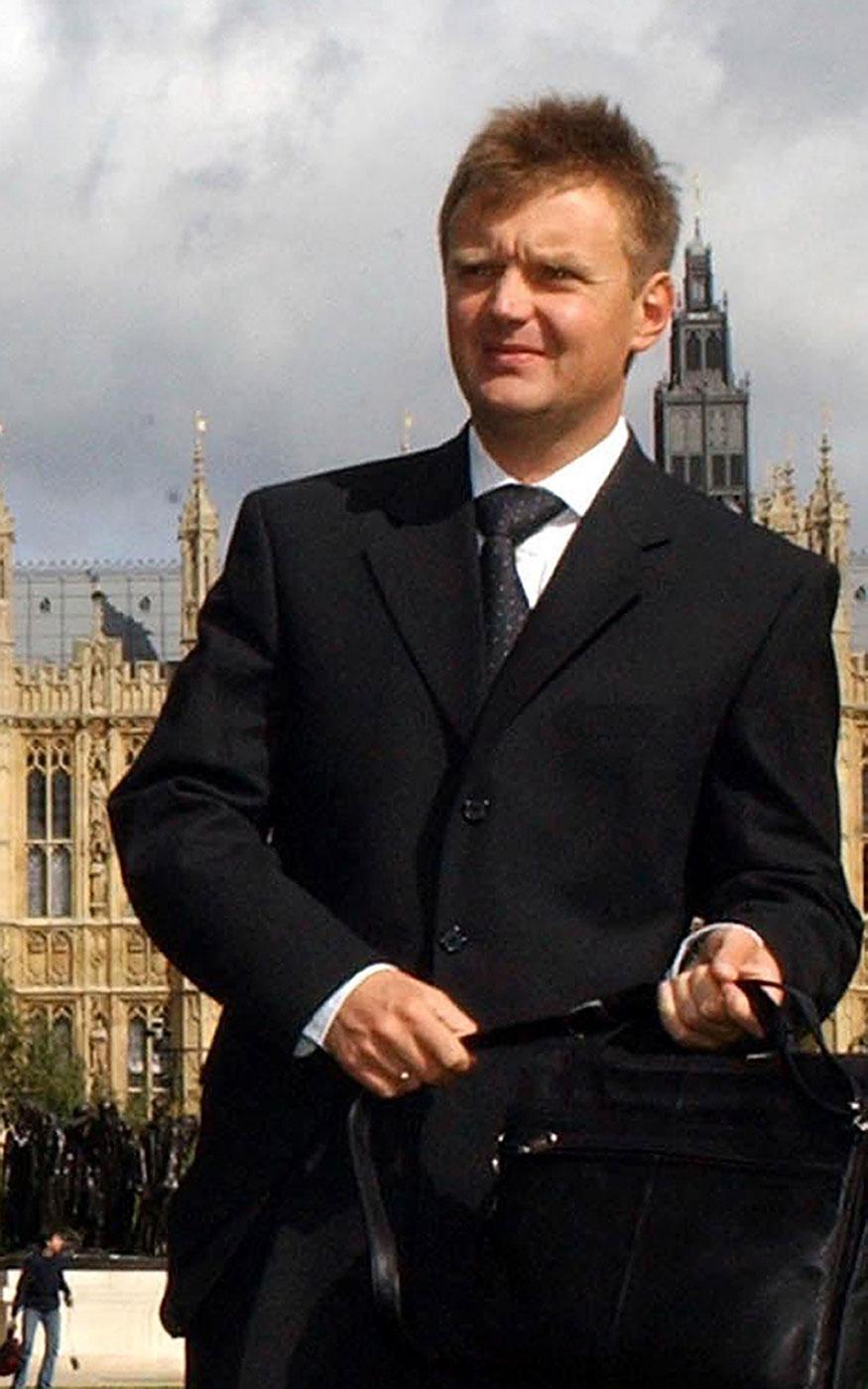Former Russian intelligence officer Alexander Litvinenko is seen on Sept. 14, 2004.