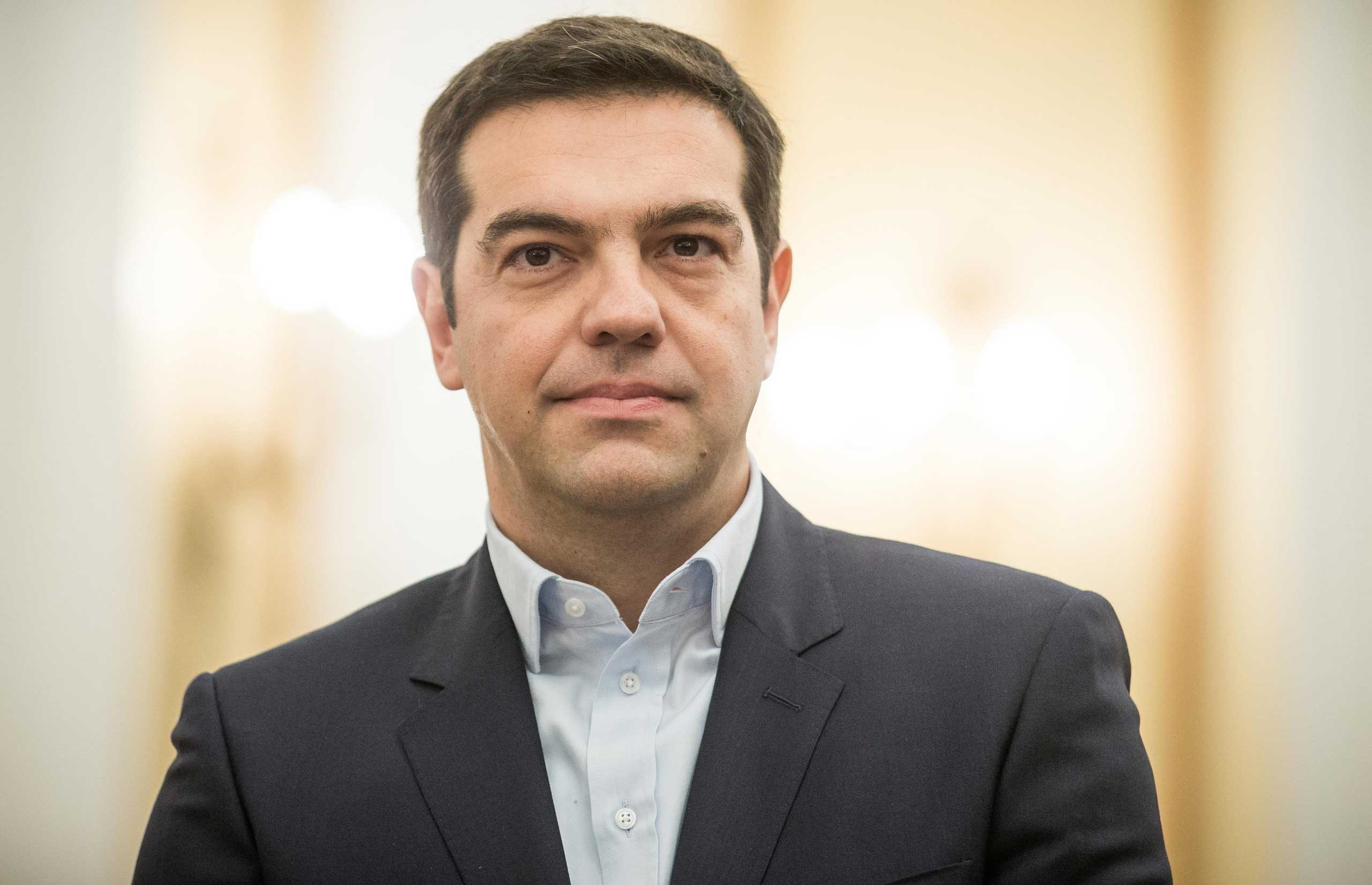 New prime minister Alexis Tsipras in Athens, Jan. 26, 2015.