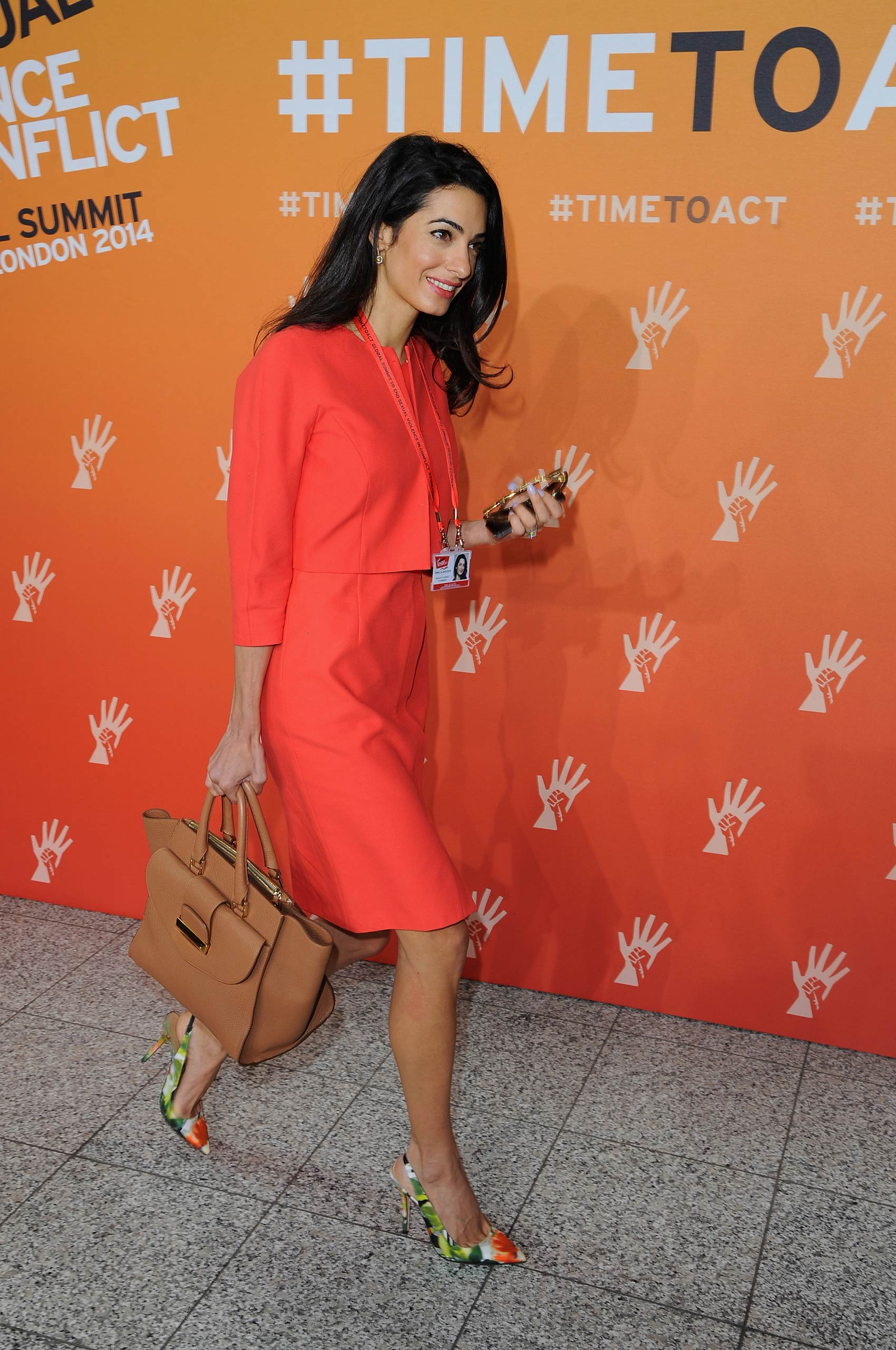 Amal Alamuddin attends the Global Summit to End Sexual Violence in Conflict at ExCel in London on June 12, 2014.