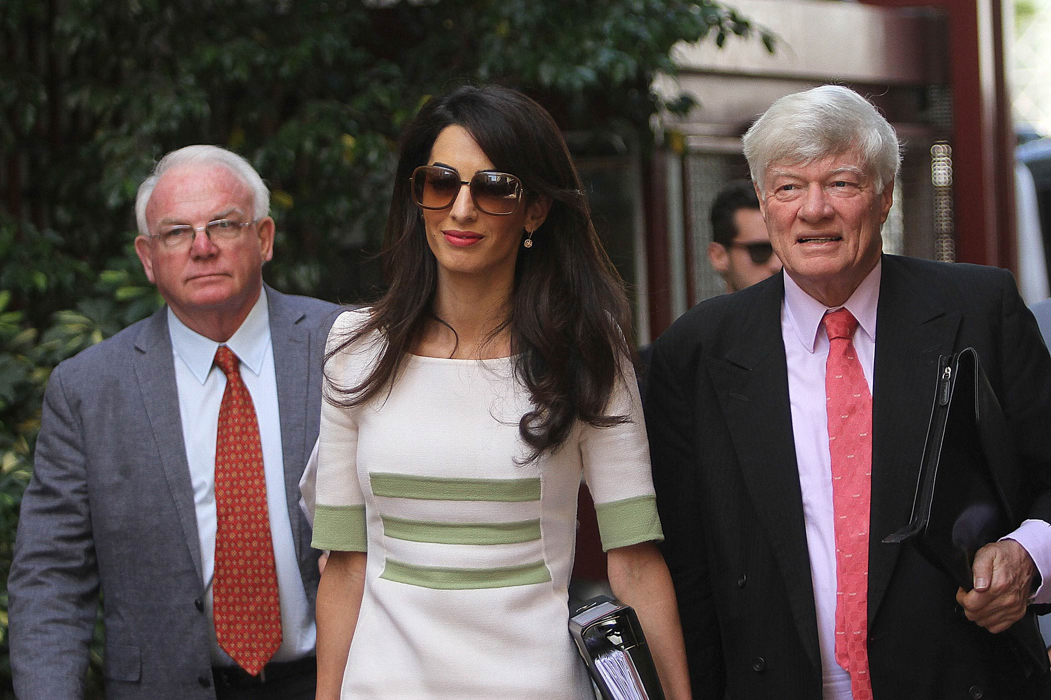 Amal Clooney arrives in Athens as part of a team advising the Greek government on its bid to reclaim the ancient artifacts from Britain on Oct. 14, 2014.