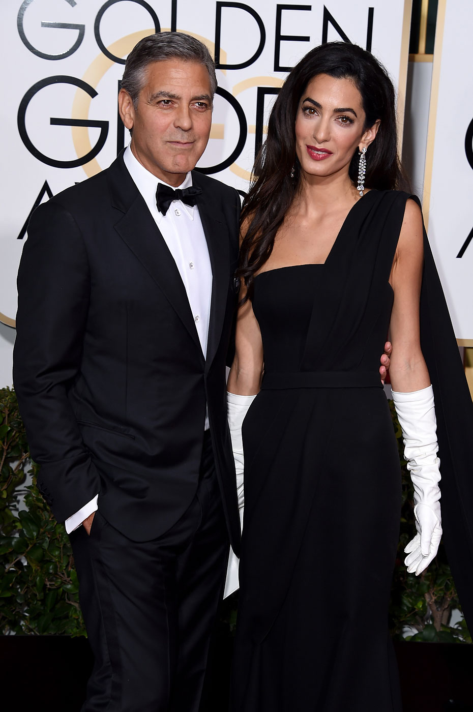 George Clooney and Amal Alamuddin Clooney attend the 72nd Annual Golden Globe Awards at The Beverly Hilton Hotel on Jan. 11, 2015 in Beverly Hills, Calif.