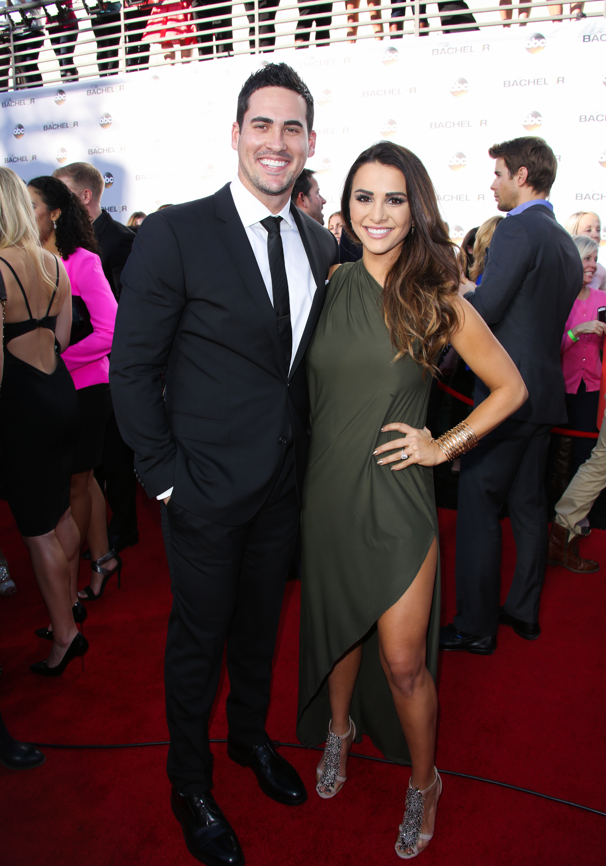 From Left: Reality TV Personalities Josh Murray and Andi Dorfman attend ABC's  The Bachelor  season 19 premiere on Jan. 5, 2015 in Hollywood.