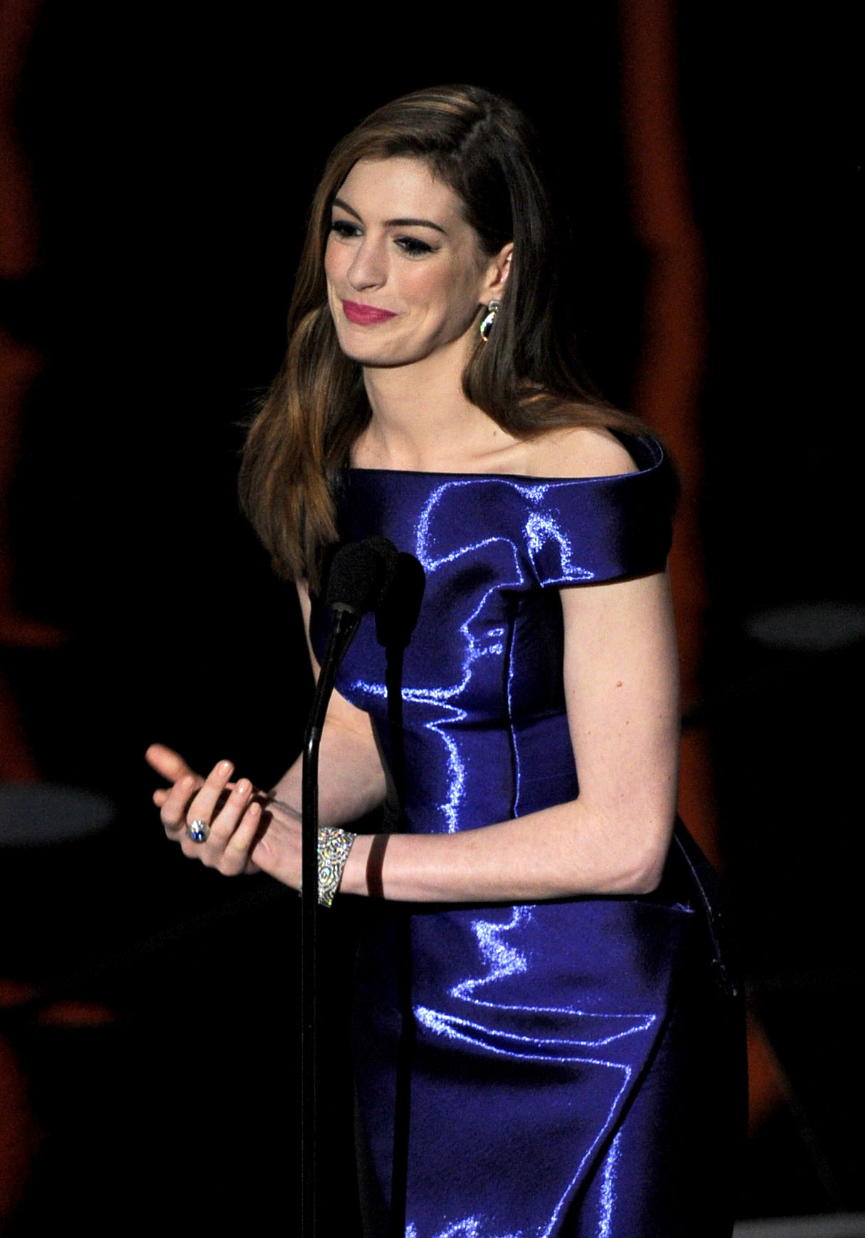 Anne Hathaway hosting the 83rd Annual Academy Awards in Hollywood, Ca. on Feb. 27, 2011.