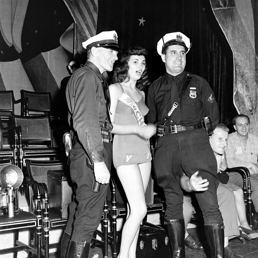 Scene during the Miss America pageant in Atlantic City, 1945.