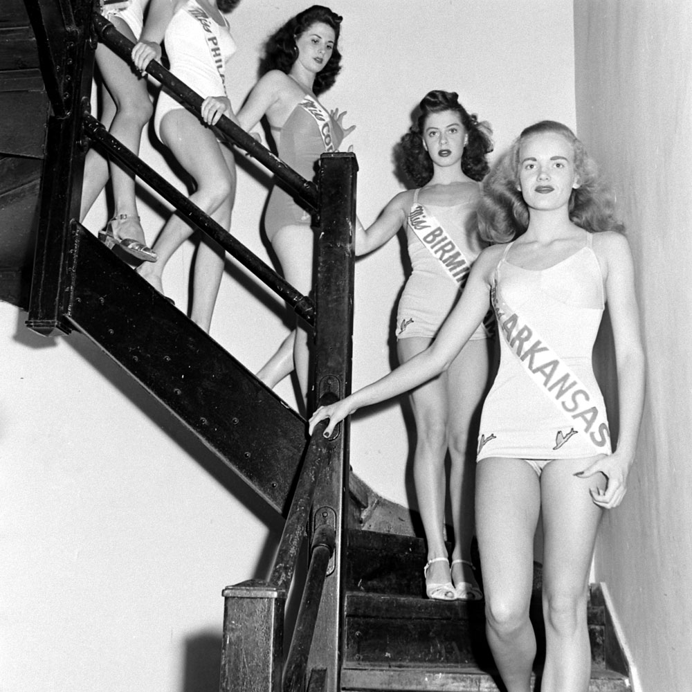Contestants in the Miss America pageant in Atlantic City, September 1945.