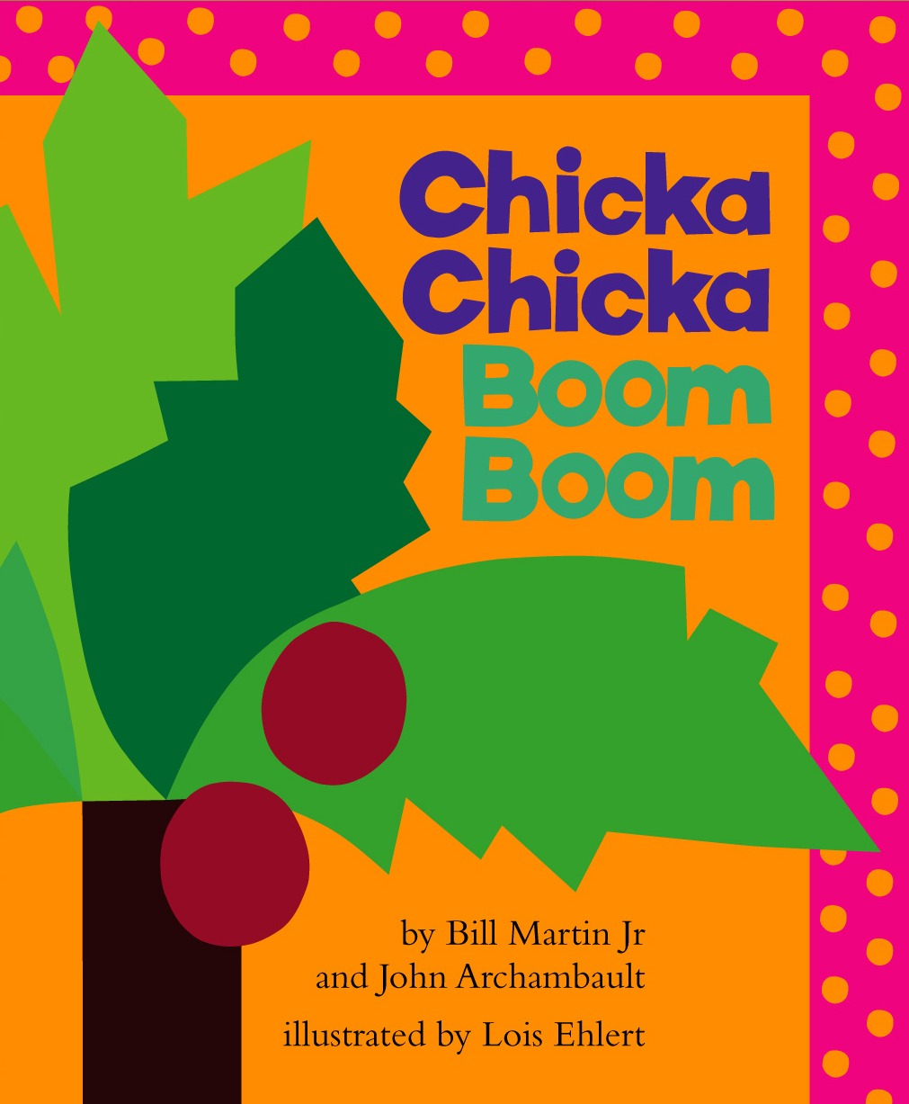 Chicka Chicka Boom Boom, by Bill Martin Jr. and John Archambault, illustrations by Lois Ehlert.                                                                                                                            Letters (literally) come to life in this alphabet book about a risky climb up a coconut tree.                                                                                                                            Buy now: Chicka Chicka Boom Boom