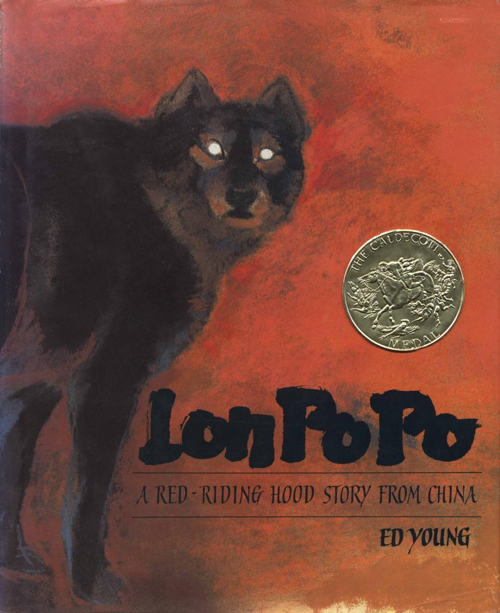 Lon Po Po, by Ed Young.                                                                                                                            In this dark variant of Little Red Riding Hood, young sisters deliver swift justice to the big bad wolf.                                                                                                                            Buy now: Lon Po Po