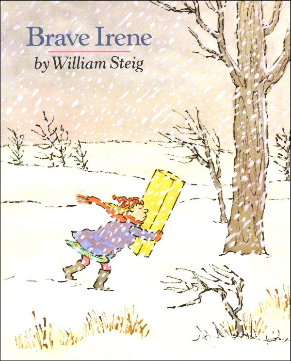 Brave Irene, by William Steig.                                                                                                                            A dressmaker's daughter bravely ventures into a snowstorm to deliver the duchess her new gown in time for the ball.                                                                                                                            Buy now: Brave Irene
