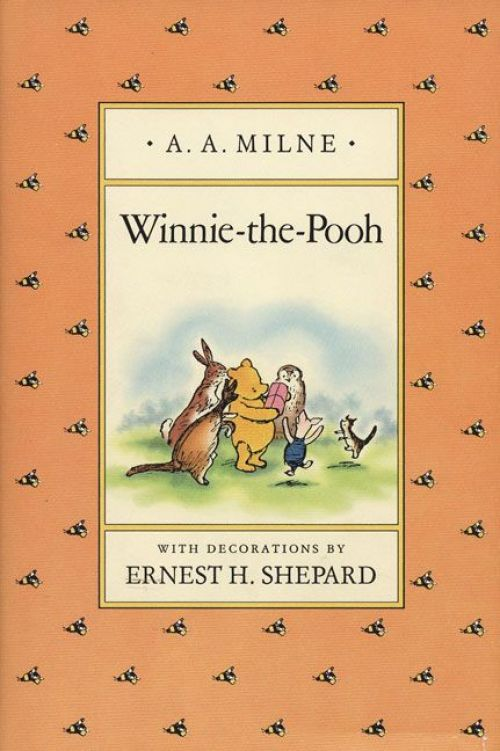 Winnie the Pooh (series), by A.A. Milne, illustrations by Ernest H. Shepard.                                                                                                                            Children cannot resist this sweet, slow-moving bear with a taste for  hunny.                                                                                                                             Buy now: Winnie the Pooh (series)