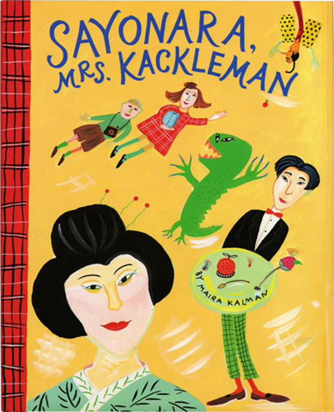 Sayonara, Mrs. Kackleman, by Maira Kalman.                                                                                                                            To avoid piano teacher Mrs. Kackleman, siblings Alexander and Lulu embark on a chaotic, parent-free journey to Japan.                                                                                                                            Buy now: Sayonara, Mrs. Kackleman