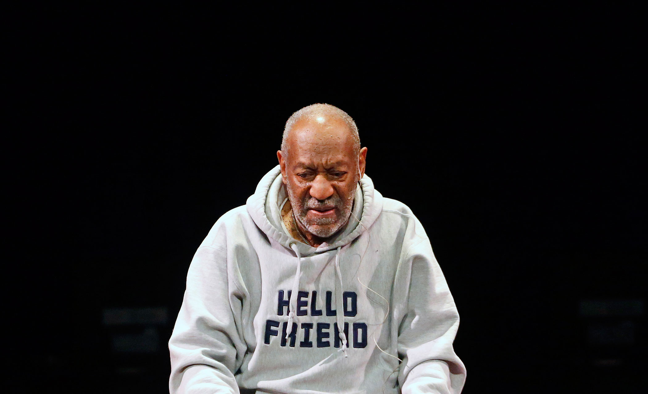 Bill Cosby performs at the Buell Theater in Denver, Colo., Jan. 17, 2015.