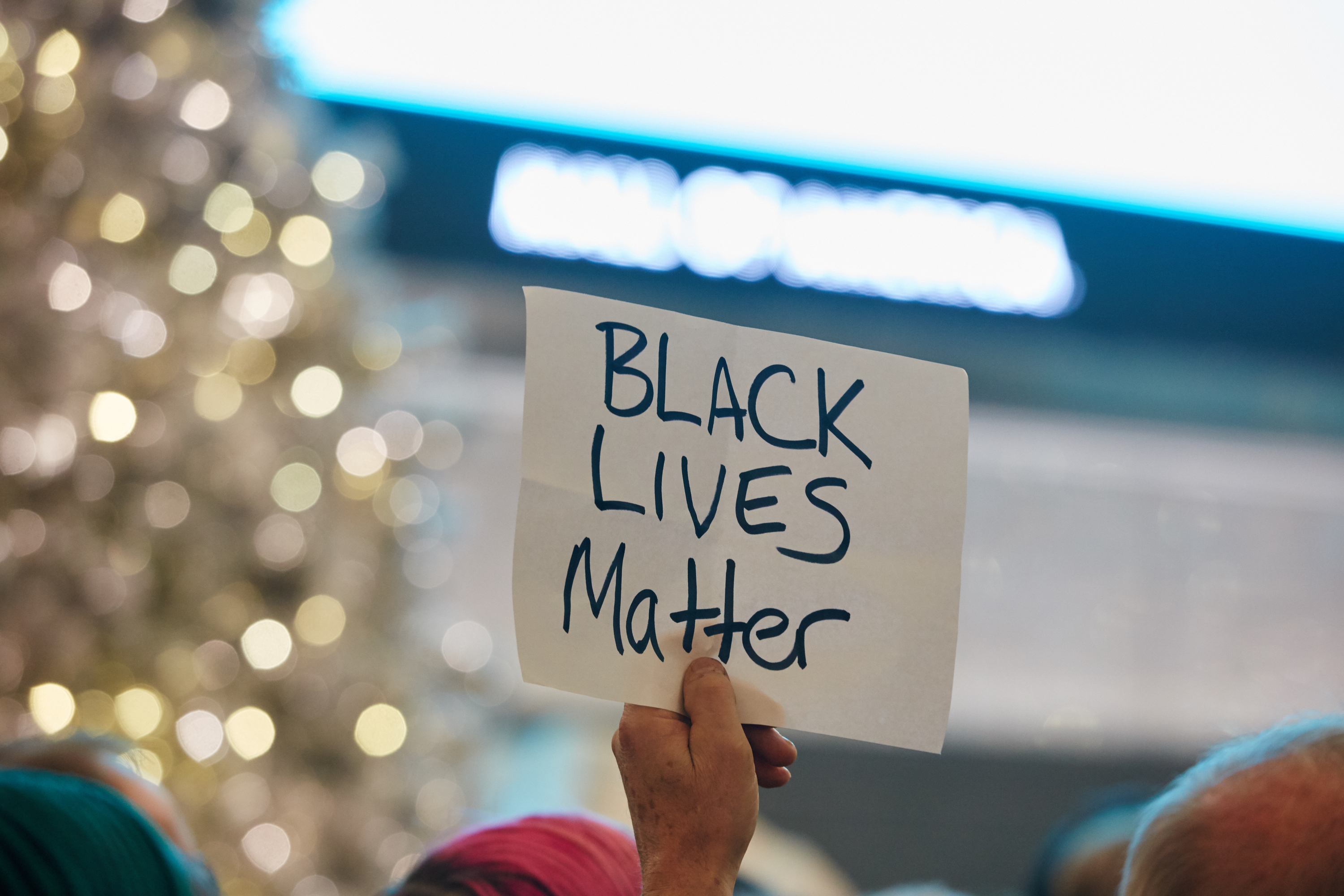 Thousands of protesters from the group  Black Lives Matter  disrupt holiday shoppers on Dec. 20, 2014 at Mall of America in Bloomington, Minn.