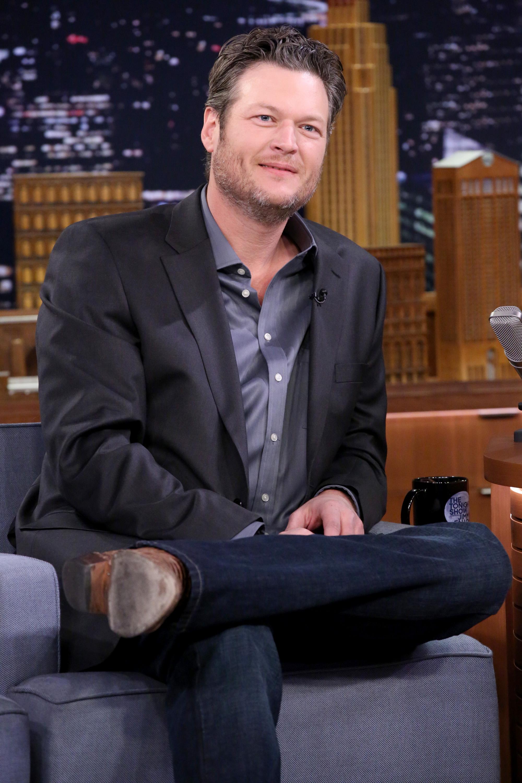 Musician Blake Shelton on the Jimmy Fallon Show on Jan. 22, 2015.