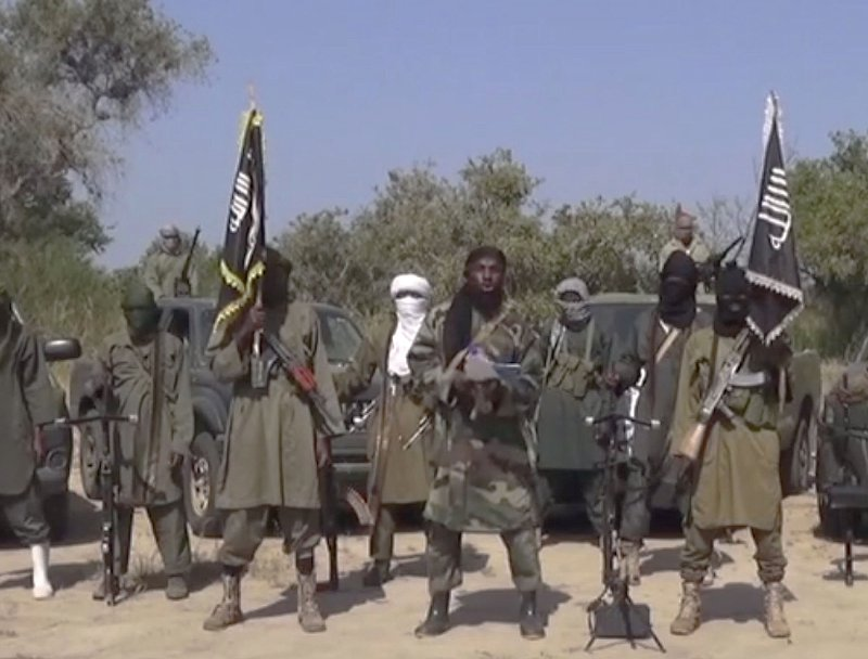 Image taken from a video by Nigeria's Boko Haram terrorist network, Oct. 31, 2014.