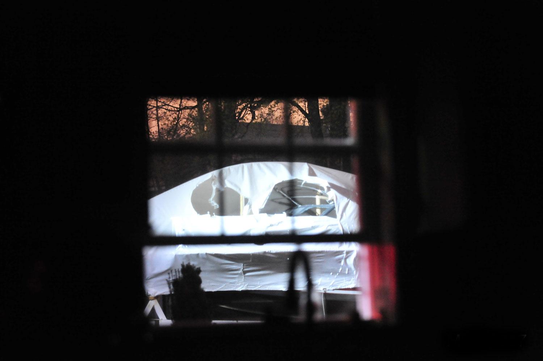 <b>7:08:59 p.m.</b> The boat containing Tsarnaev.