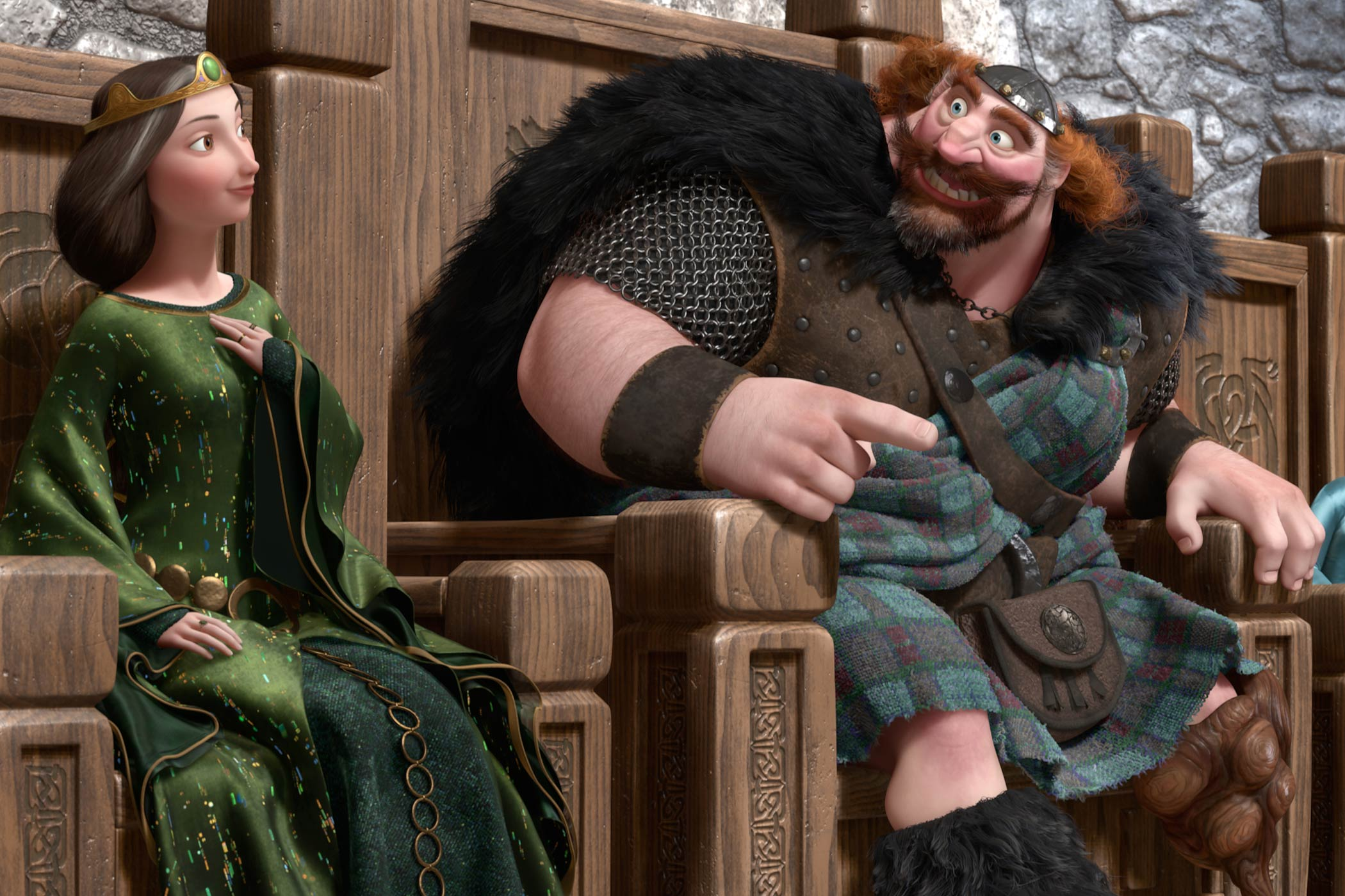 Queen Elinor and King Fergus in Brave