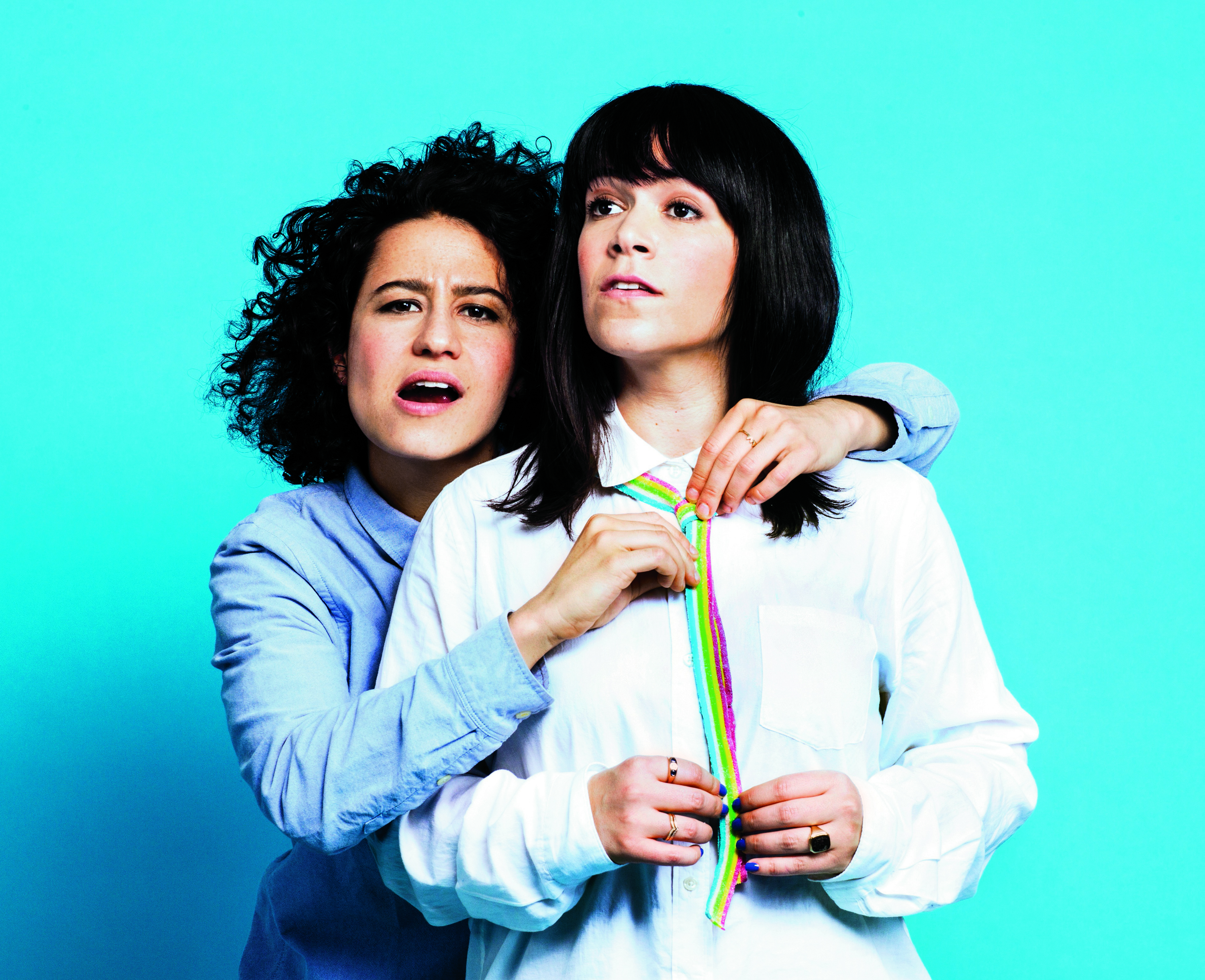 Girl code: Glazer, left, and Jacobson mine their real-life camaraderie for comic gold on the Comedy Central hit Broad City