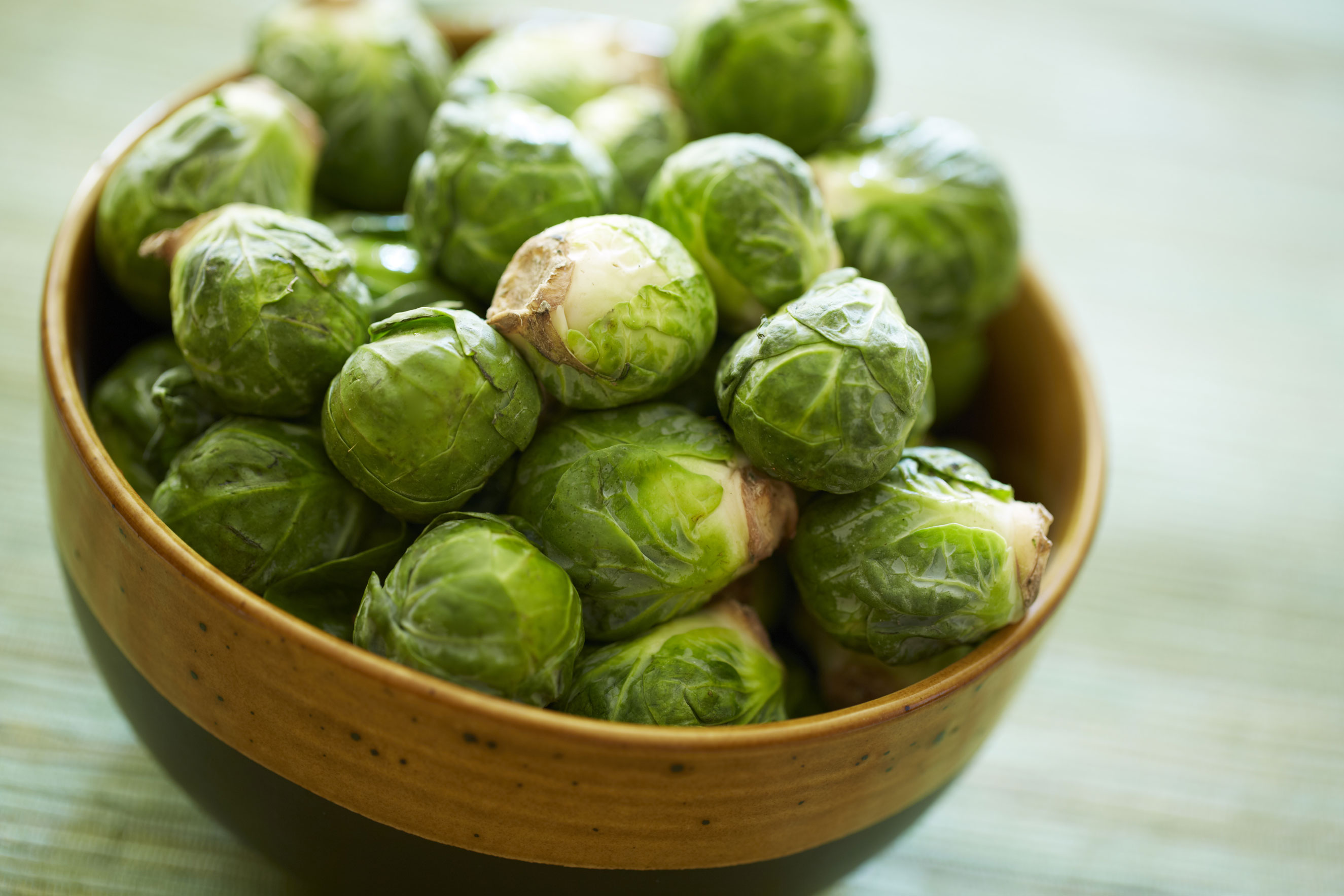 <strong>Brussels sprouts:</strong> If you still think you hate Brussels sprouts, try them now. They're sweeter than summer sprouts, she says. (Failing that, of course, try frying them with bacon.)